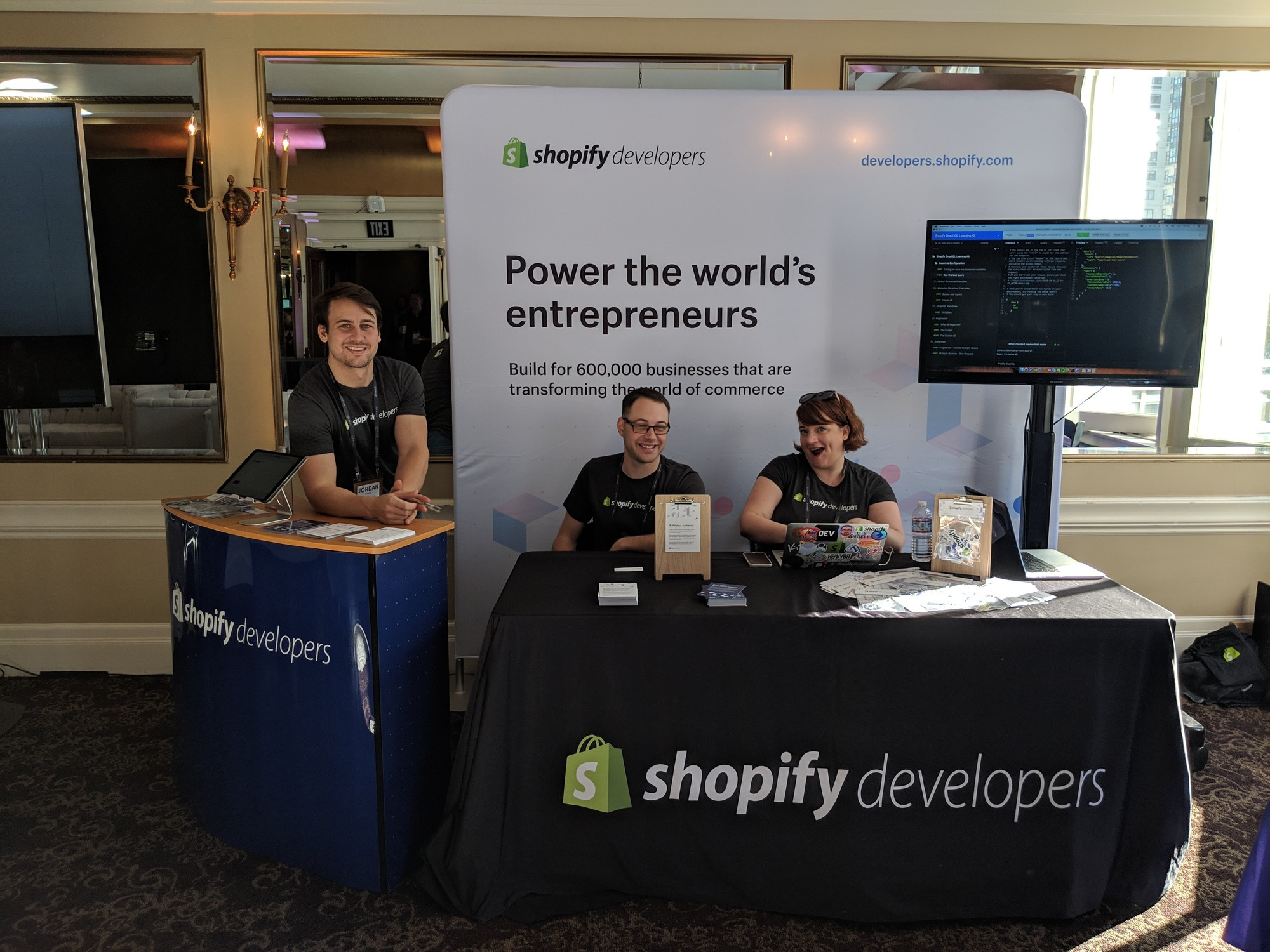 The team representing Shopify at GraphQL Summit 2018 in San Francisco