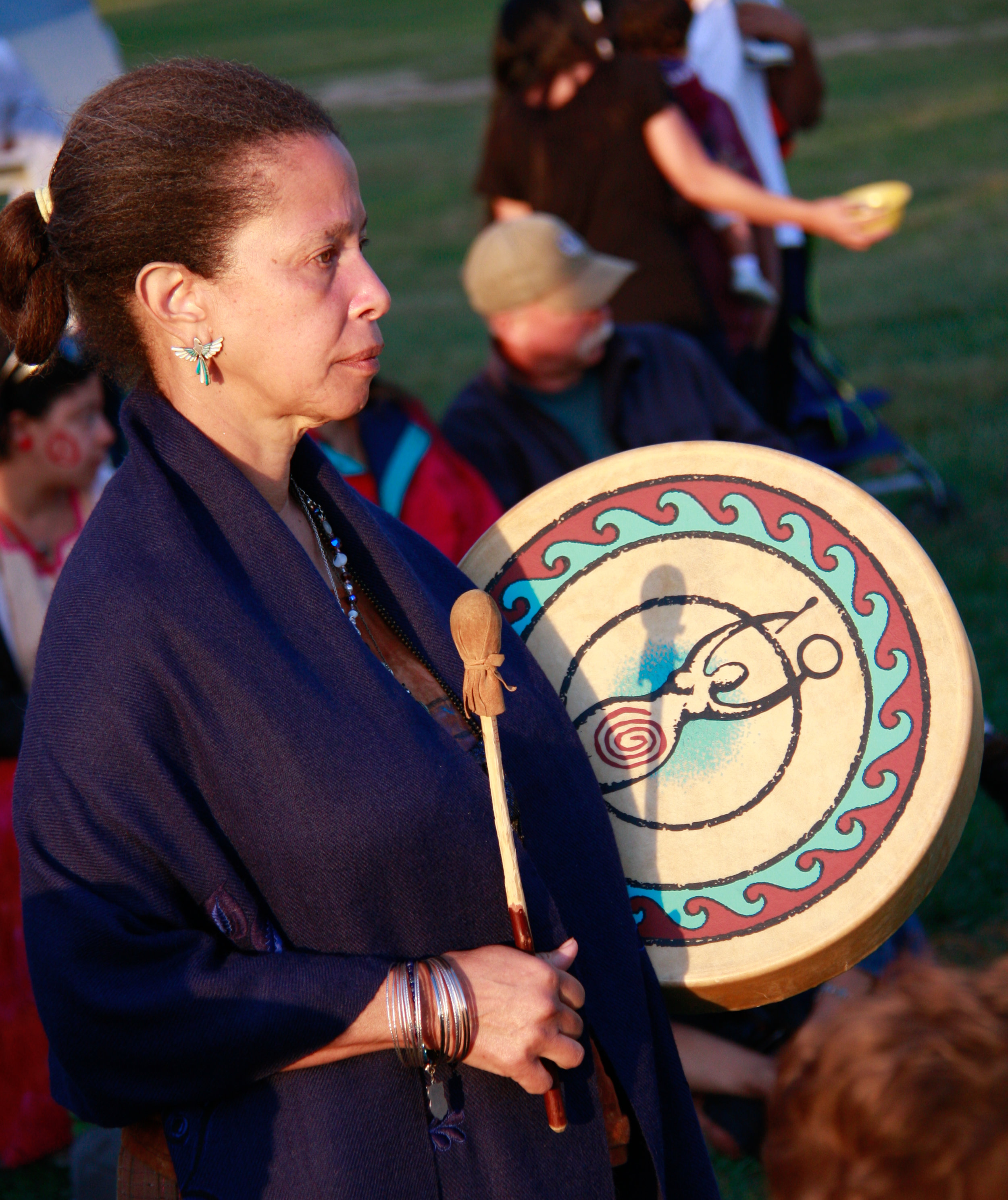 Rabiah Nur - Spring of LightRabiah is an energy healer whose Indigenous roots and medicine connect her with the Earth and the elements. A daughter of the Divine Mother, she uses dance, singing and the drum to raise the vibrations of people and nature.