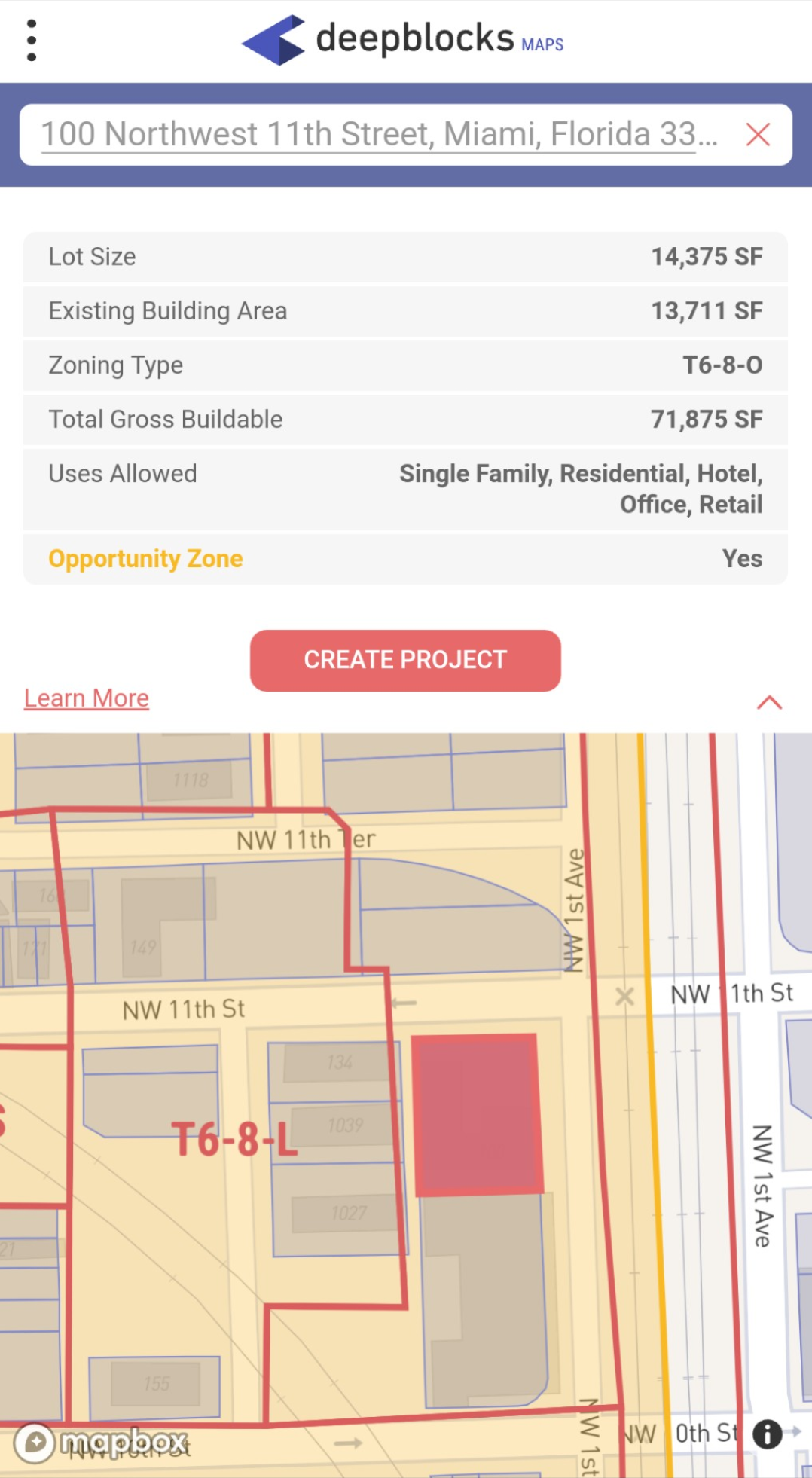 Using    Deepblocks Maps    to quickly assess property potential.