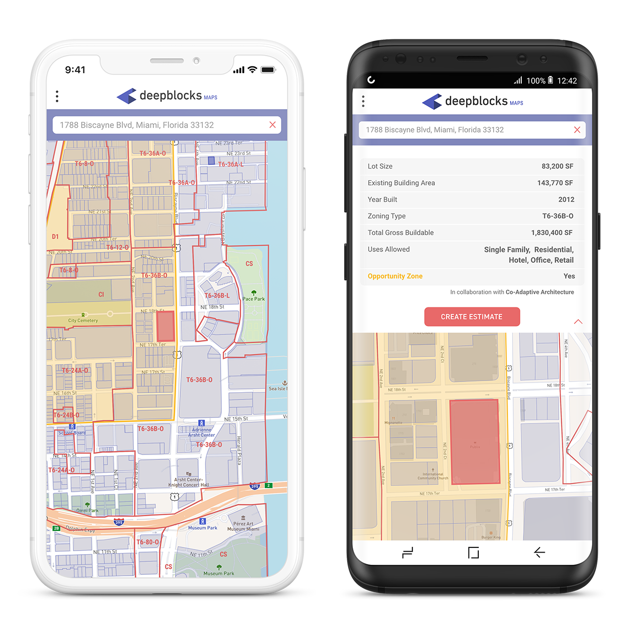 Deepblocks Maps    is supported on mobile, tablets and desktop.