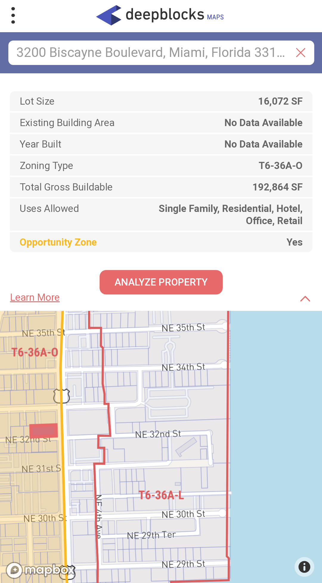 Via  Deepblocks Maps , our FREE web-based app.