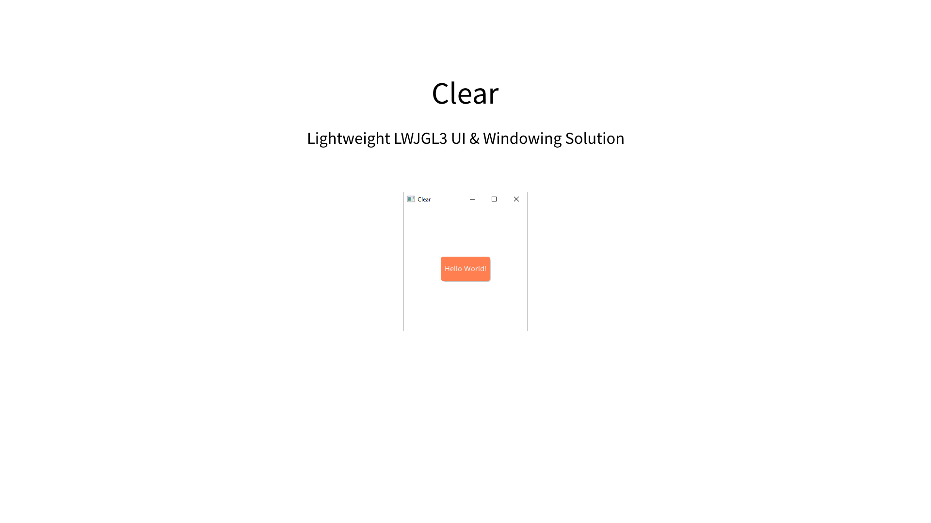 (Open Source) Clear (2019)