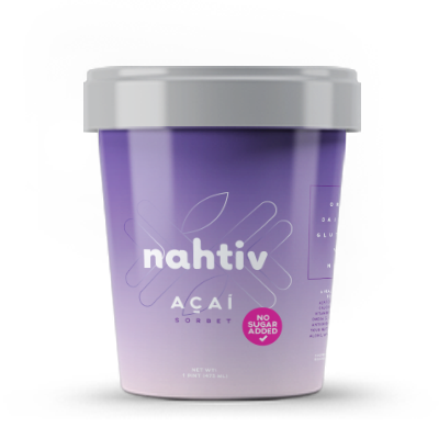 """Nahtiv AÇAI SORBET  NO SUGAR ADDED    The following is placeholder text known as """"lorem ipsum,"""" which is scrambled Latin used by designers to mimic real copy. Vivamus a ante congue, porta nunc nec, hendrerit turpis. Donec eu est non lacus lacinia semper. Suspendisse nec congue purus. Donec eu est non lacus lacinia semper. Nullam sit amet nisi condimentum erat iaculis auctor."""