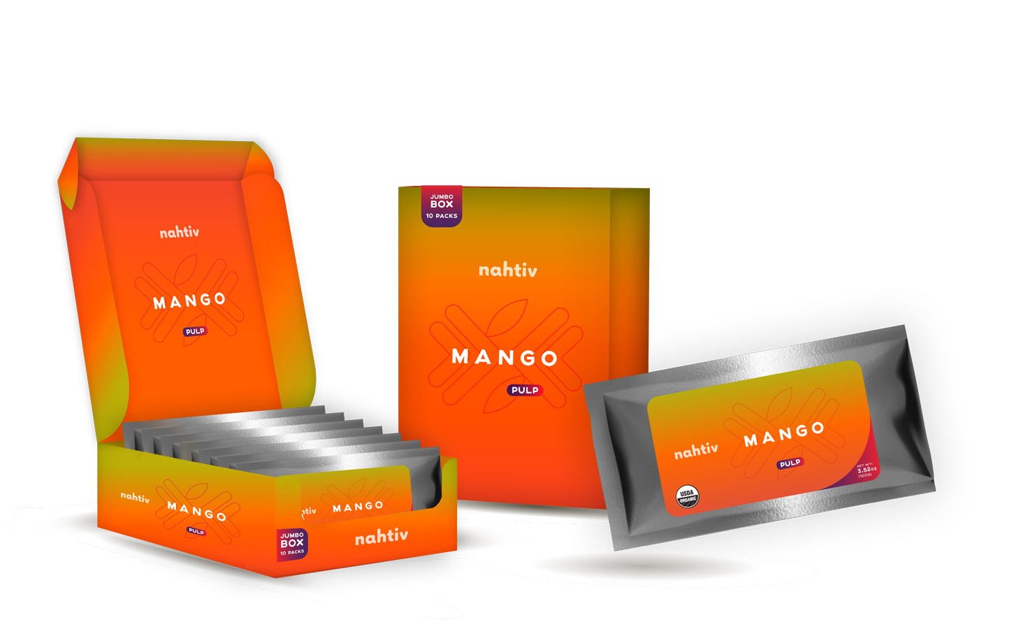 Nahtiv MANGO PULP BOX (pack with 30)   Also known as the King of Fruits, Mangos are tropical fruits that belong to the same family as that of Pistachios, Gandaria, Mombin, and Cashews. Beyond the sweet, luscious taste of Mangos, they also contain an abundance of vitamins, minerals and antioxidants that assure your optimum health.