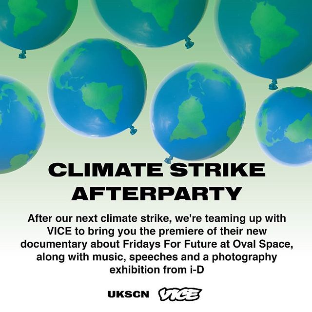 🚨LONDONER ALERT!🚨 This Friday there will be a strike after-party hosted by VICE in collaboration with @ukscn ! Find tickets in @viceuk bio or DM @ukscn for a link. See you all there 😉💚 #Greta #UKSCN #fff #ys4c #youthstrike4climate #climatecrisis #youthuprising #protest #strike #school #environment #ecologicalbreakdown #schoolstrike #leadership #crisis #climatechange #vice
