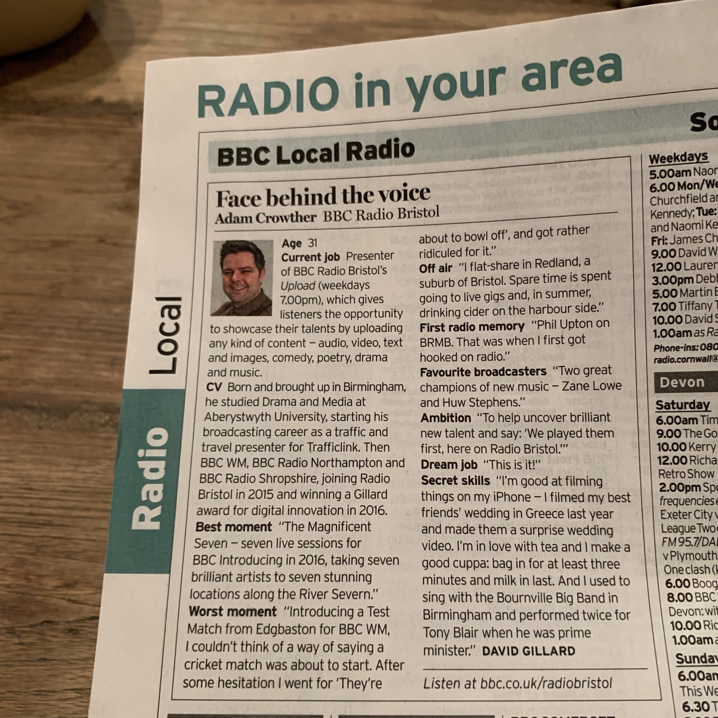 Radio Times - Face behind the voice