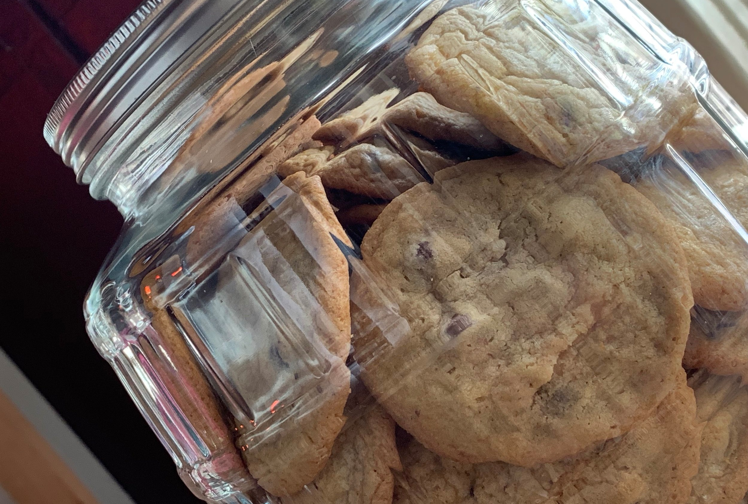 Delicious home baked chocolate chip cookies