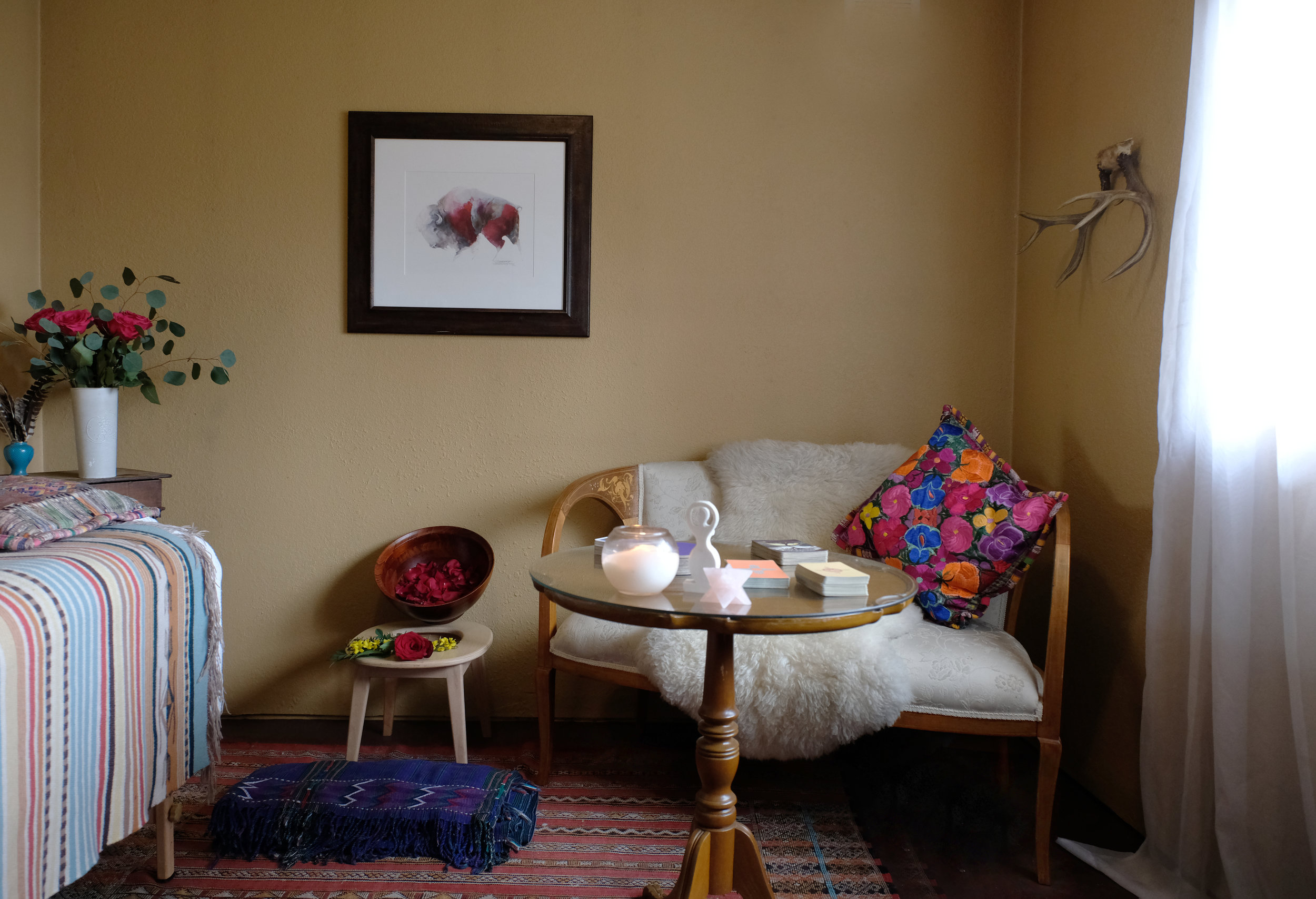 sacred space for spiritual healing at Moonflower Medicine
