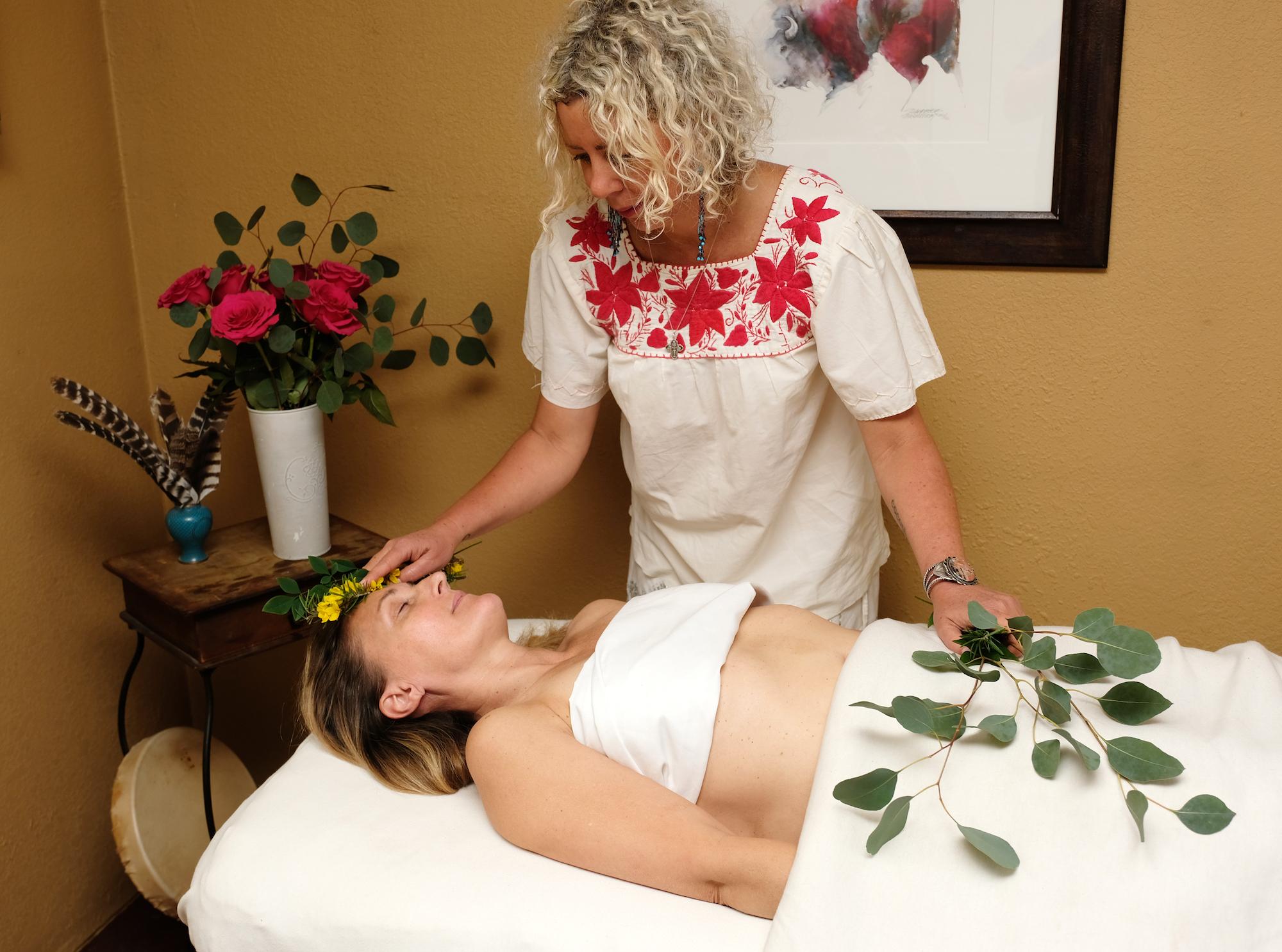 healing hands balance chakras during energy healing session
