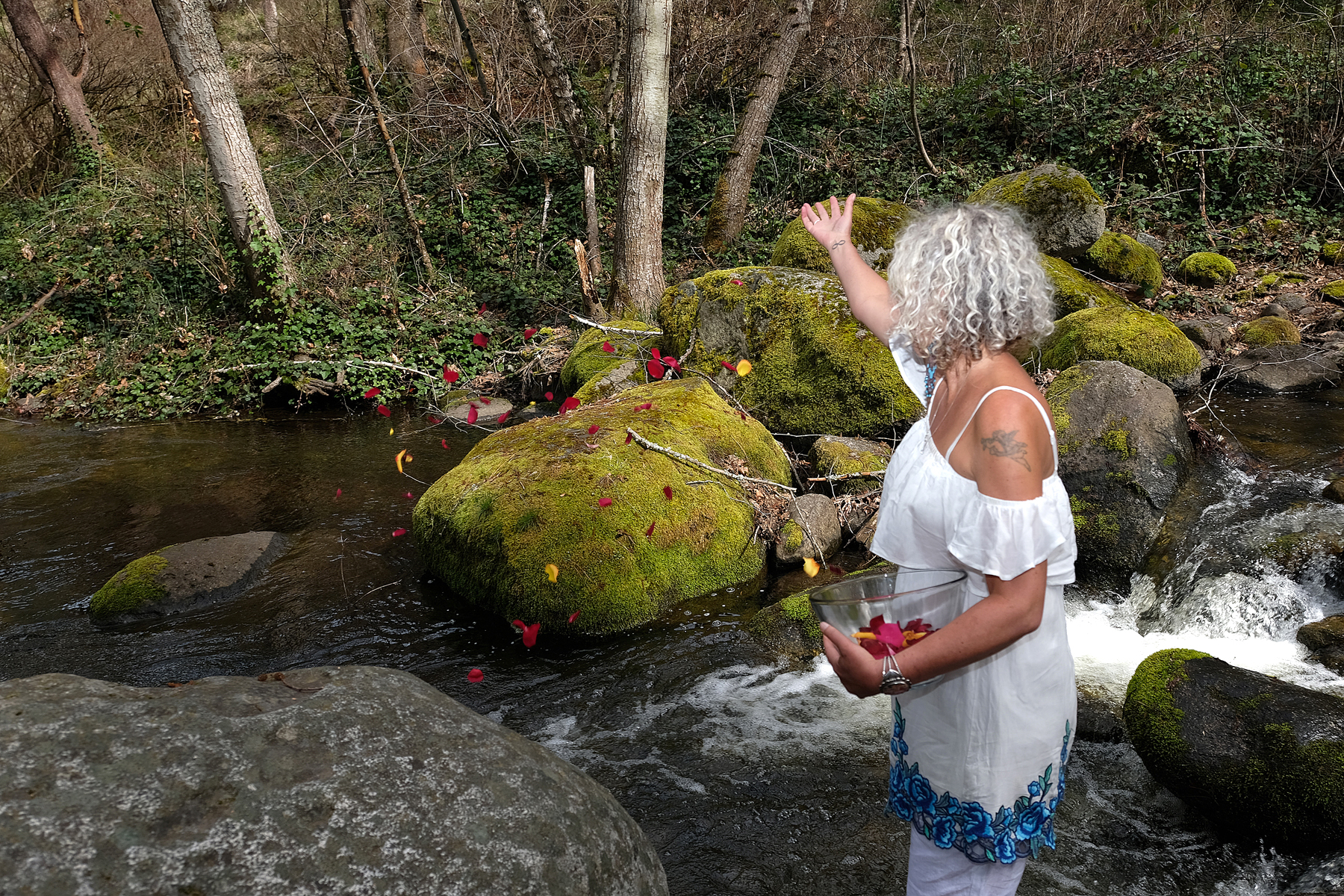 blessed offerings of flower petals by clairvoyant Denai Fuller