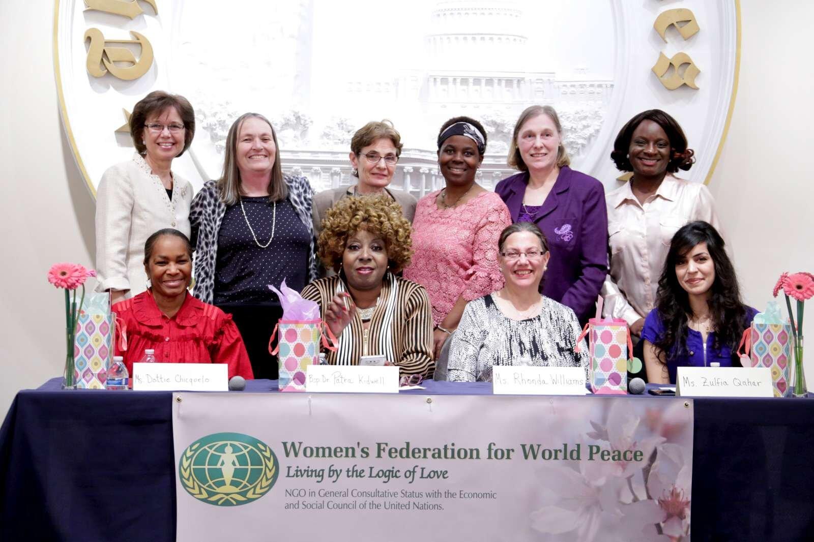 Panelists, chairwomen, emcee and Angelika Selle