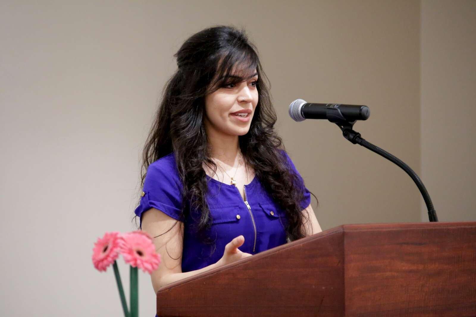 Panelist representing thje Muslim faith Ms. Zulfia Qahar