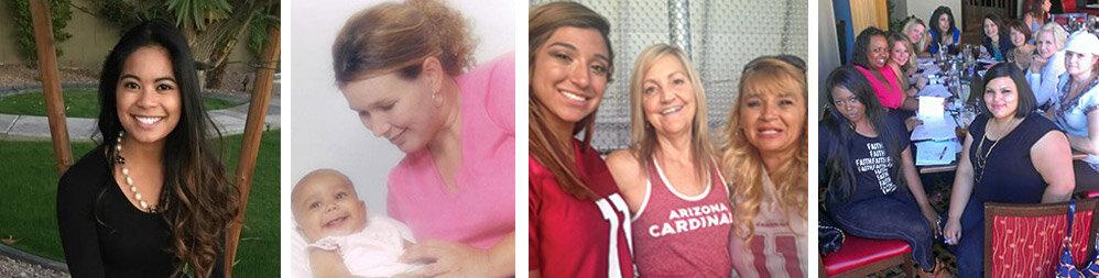 From left to right: Karen Esguerra, Michelle Singleton, Anita, Singleton Moms Annual Luncheon