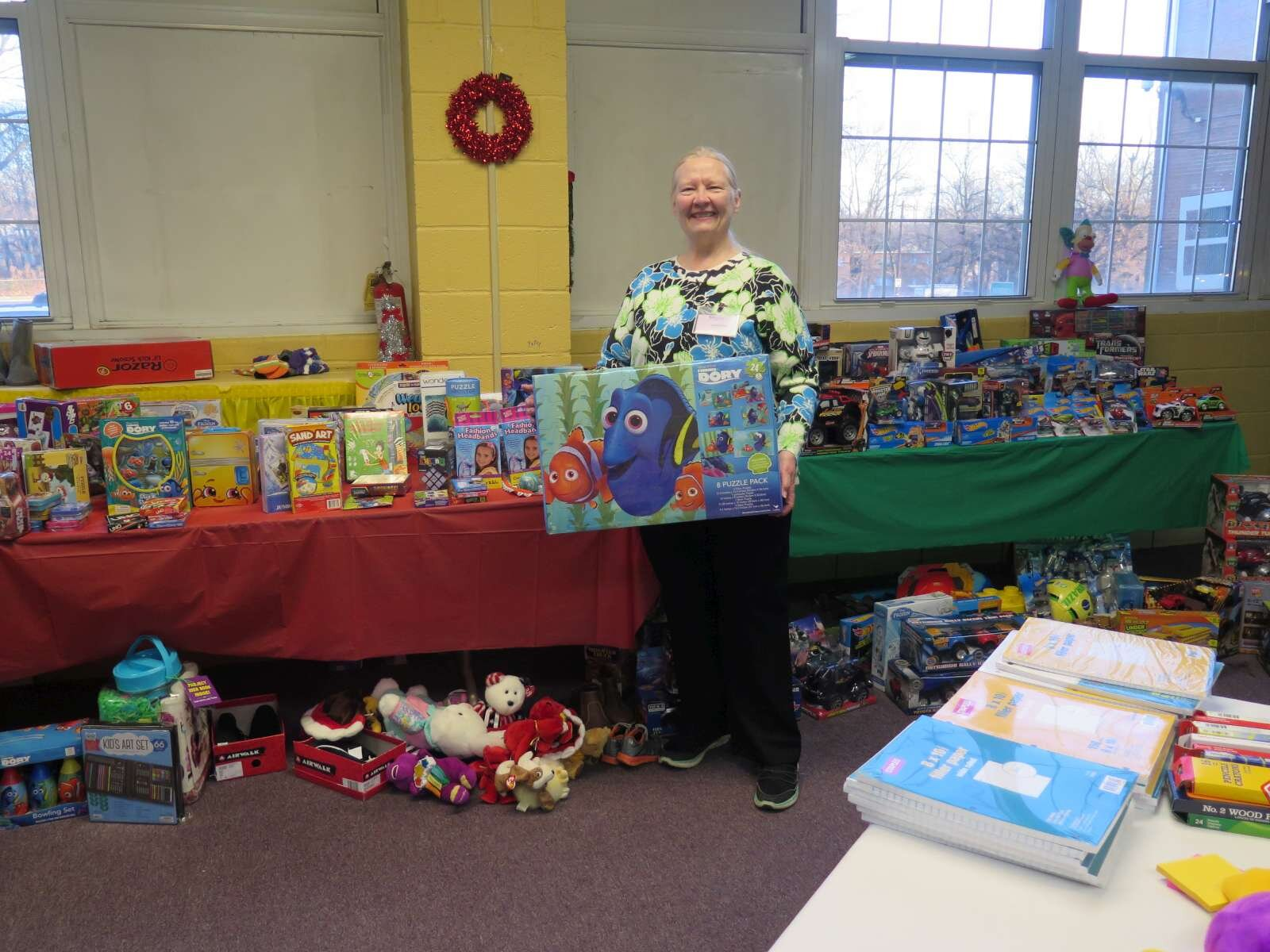 Brenda Miller with donated toys