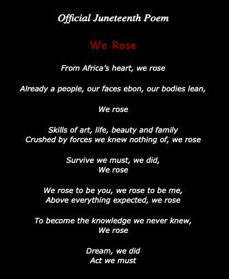 Official Juneteenth Poem