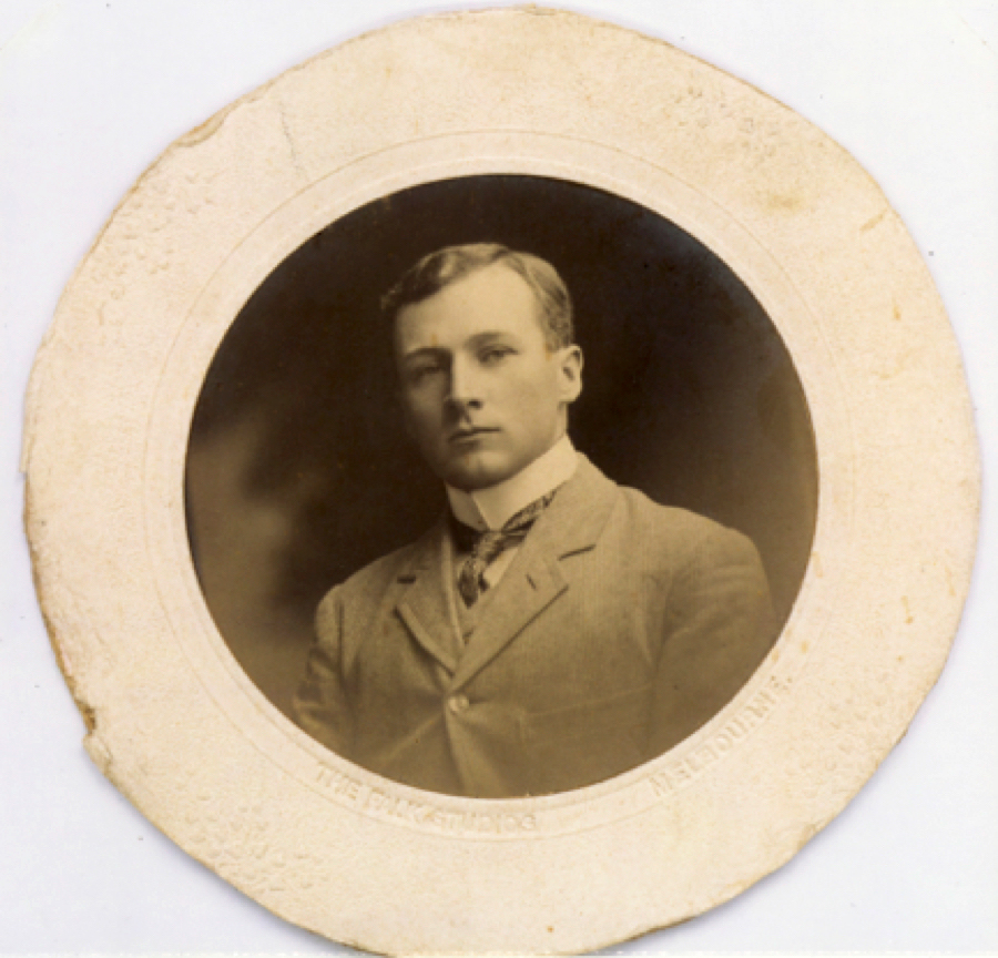 Dr Gillespie, as a young man in Melbourne. Courtesy Emeritus Professor Max Kamien.
