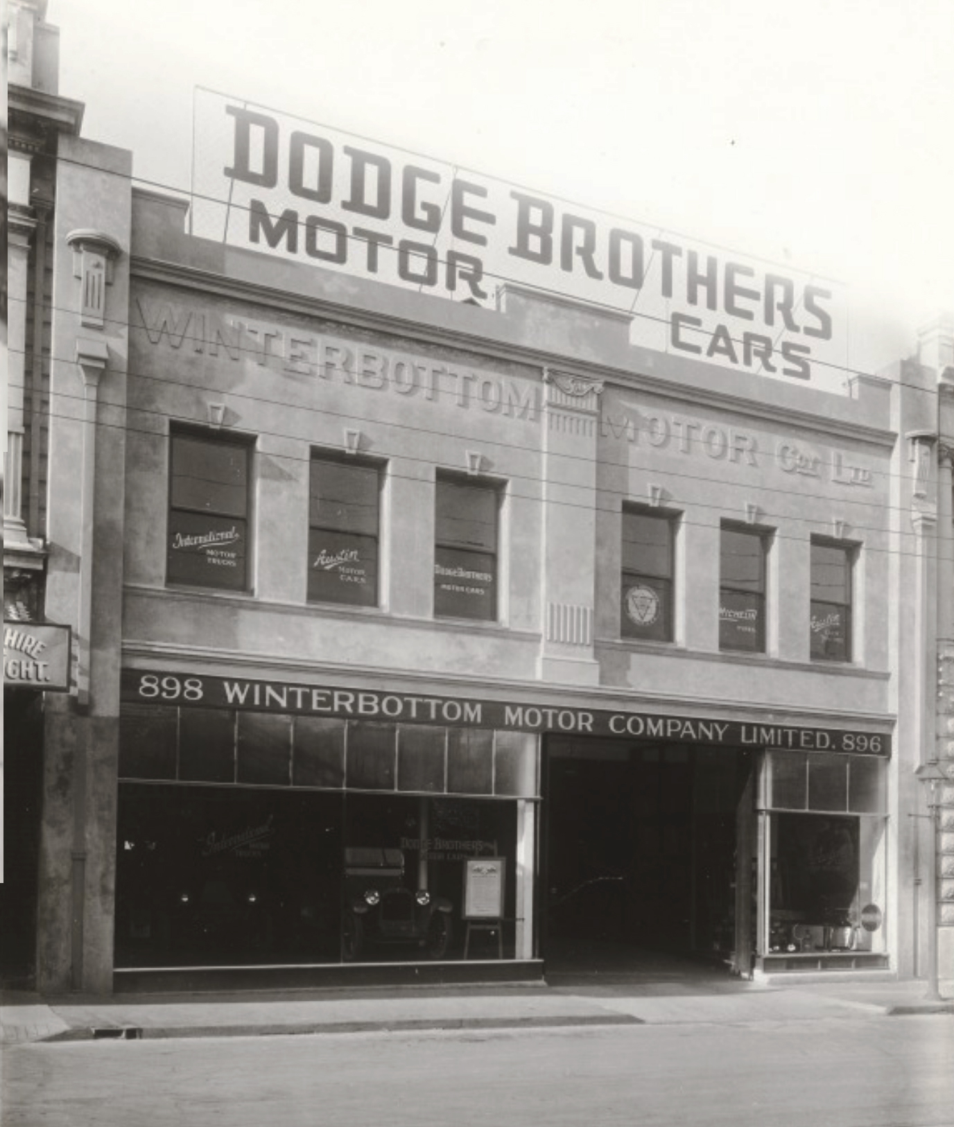 Winterbottom Motors, 896-898 Hay Street, Perth, c1925. Courtesy State Library of Western Australia, image b2101468_2.