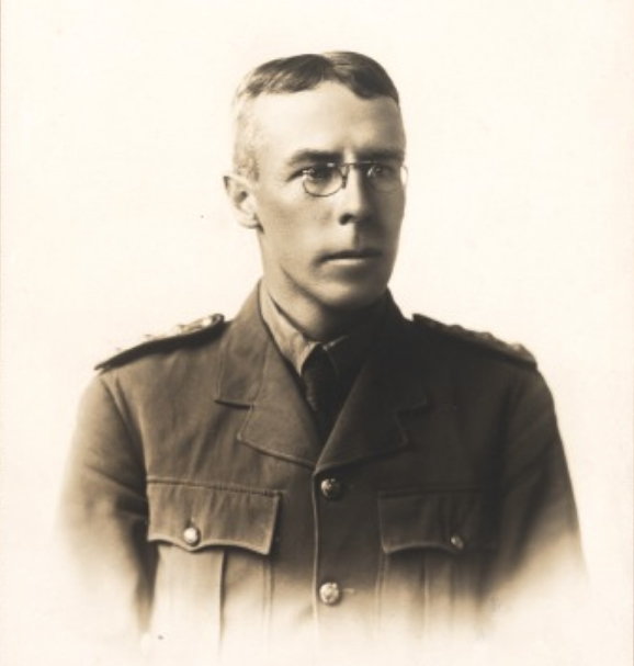Major James Edmund Fergusson-Stewart, Australian Army Medical Corps, in November 1914, just prior to embarkation. Courtesy State Library of Western Australia, Image b1956093_2.