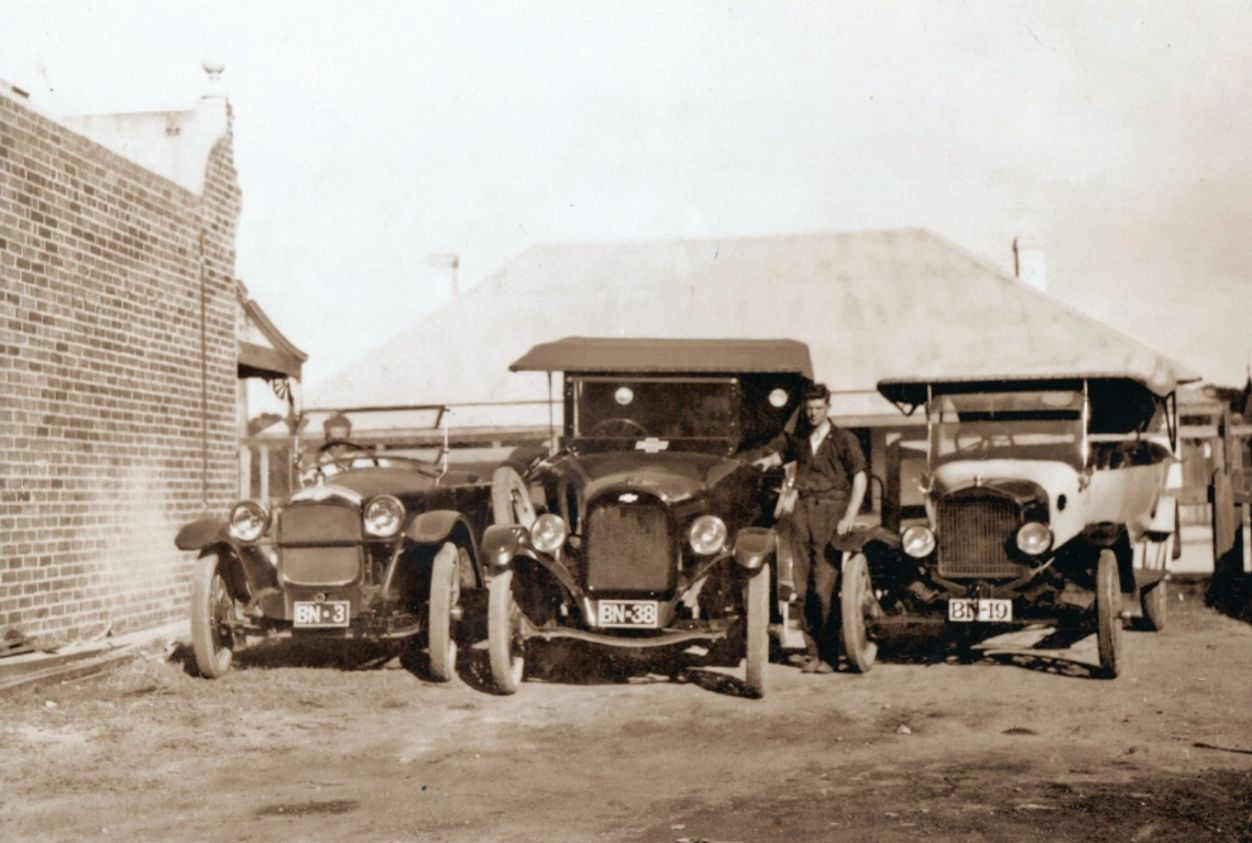 Bignell's Cars (Dodge, Chev, and Ford) south side of Busselton train station