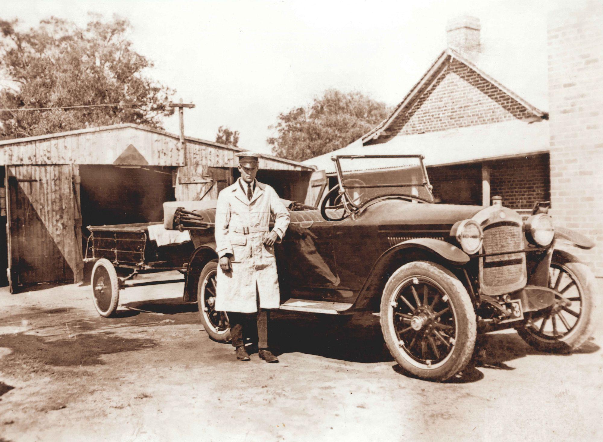 Bignell's Hupmobile Busselton, driver unknown