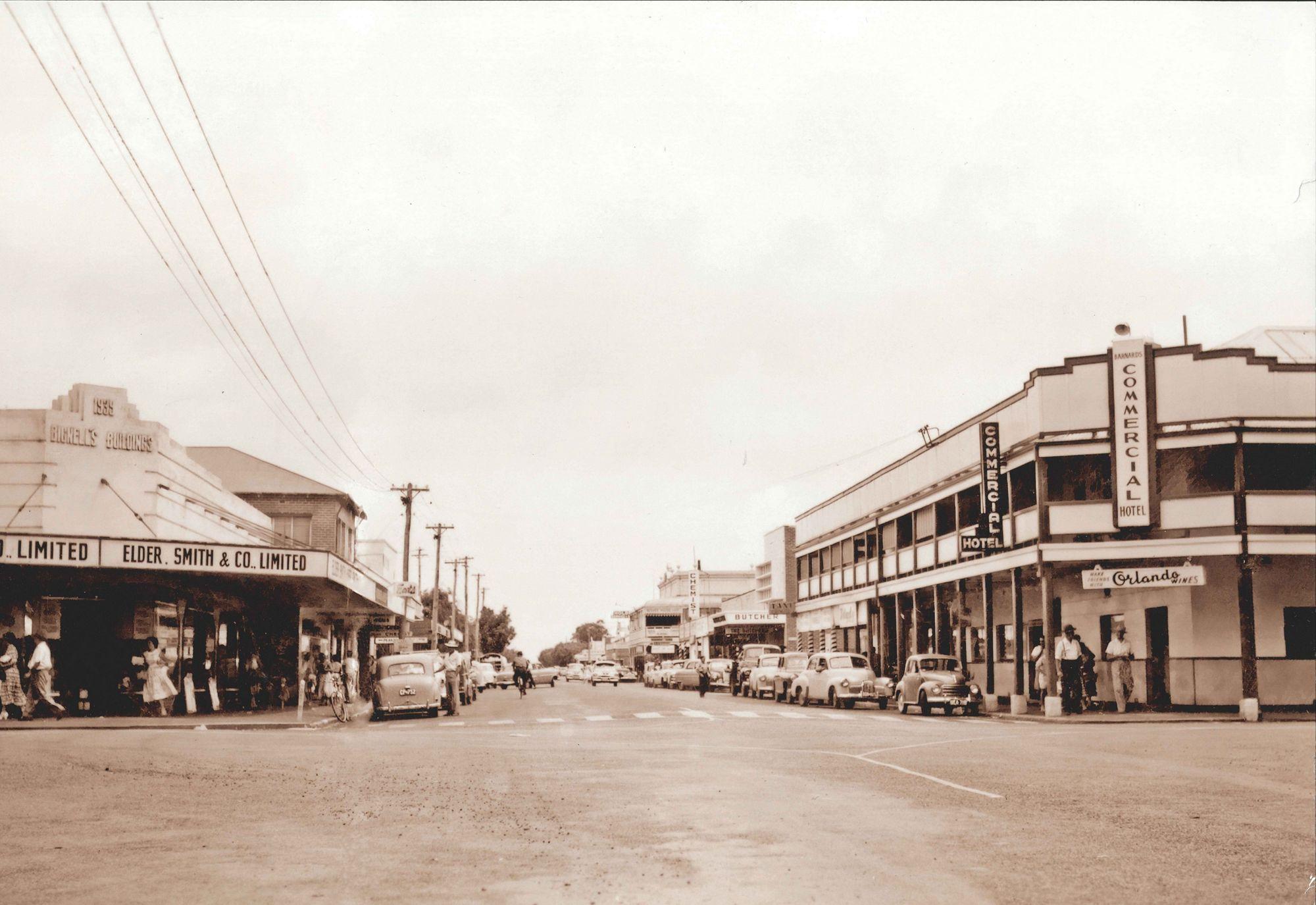 Cnr Queen & Alberts Sts, Busselton mid 1950s