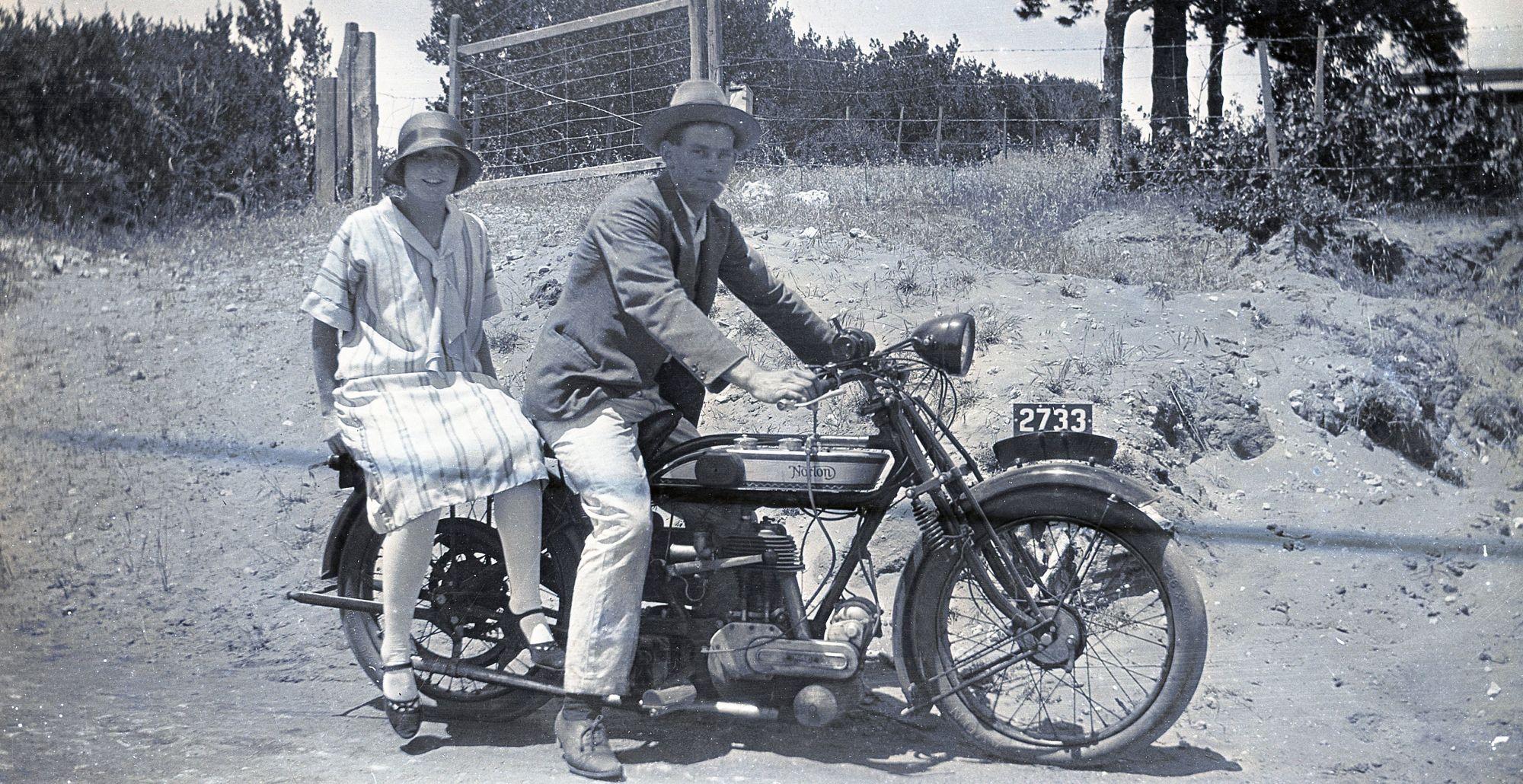 Jessie Selina Baker and Alf Melsom, 1925 Norton
