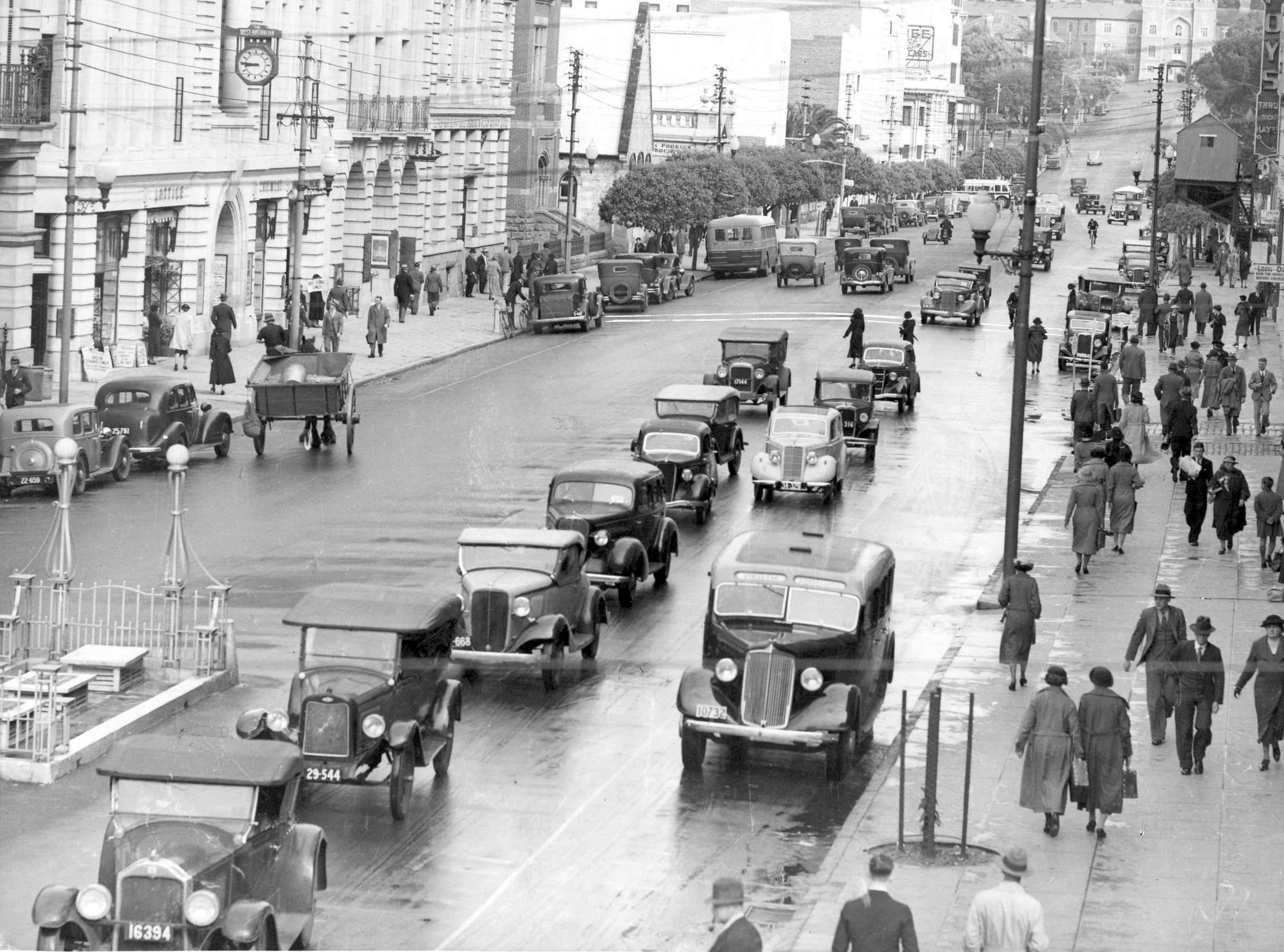 Perth St & Geo Tce, October 1936