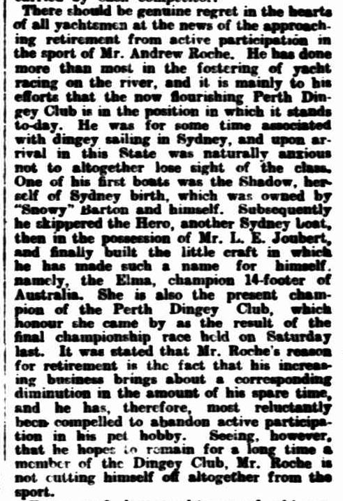 The West Australian, 20 March 1909