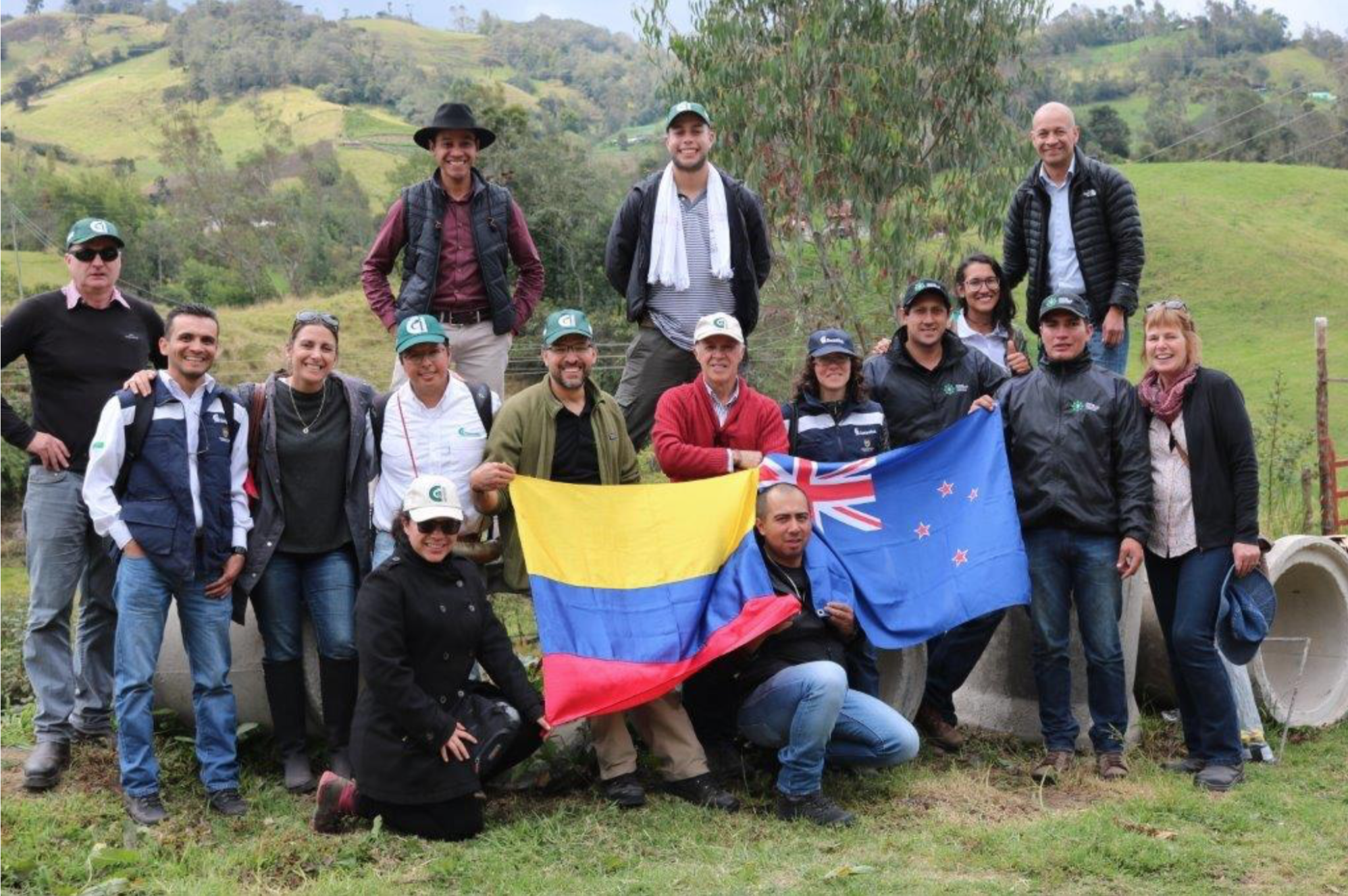 Nuestro equipo en Colombia en un viaje de campo