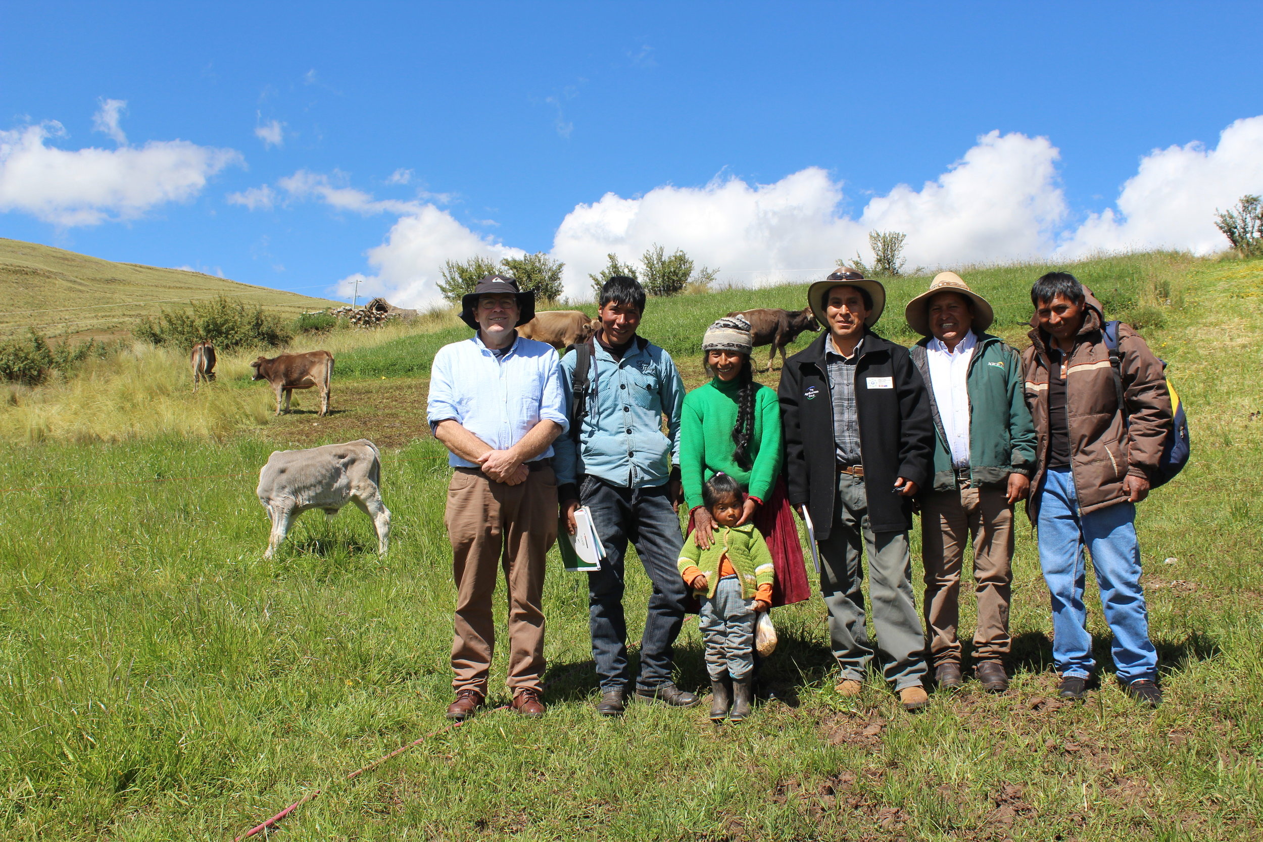 Wilfredo Conde and family, applying the good dairy farming practices