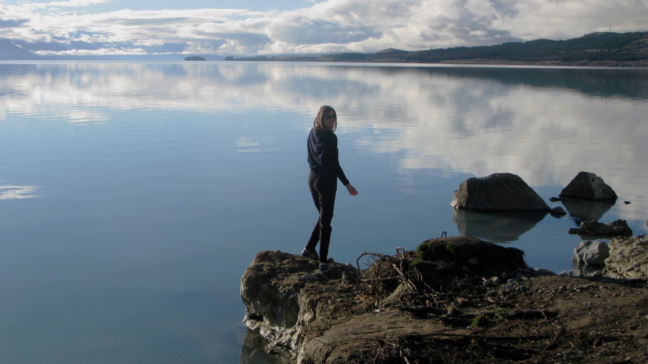 Looking out on Lake Pukaki, on my trip around the South Island
