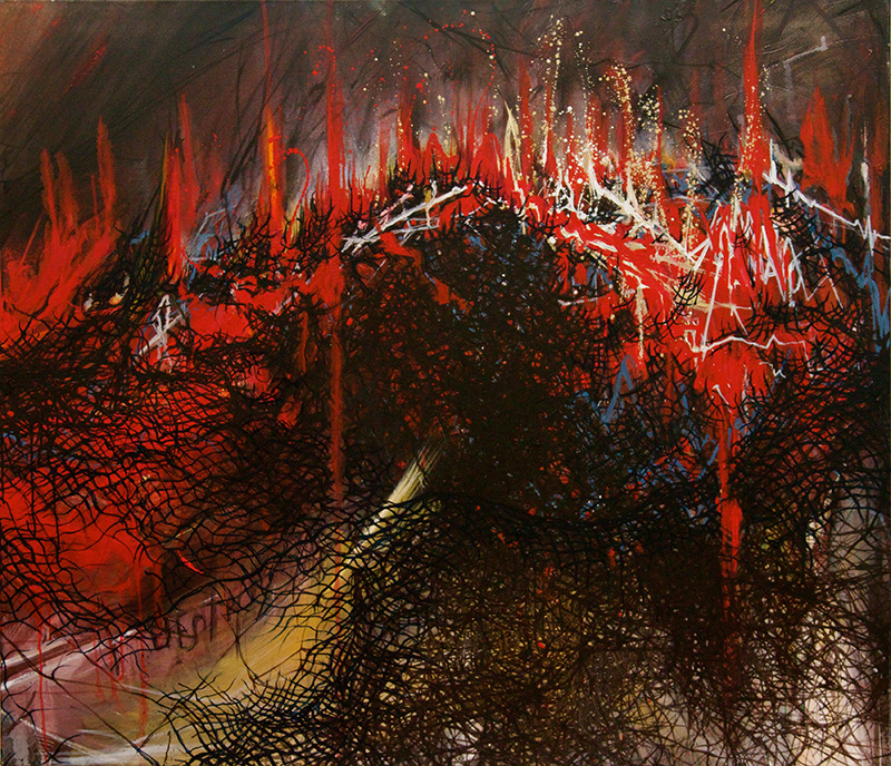 Destroy / 2011 / oil on canvas / 39.37 x 45.66 inches / 100 x 116 cm