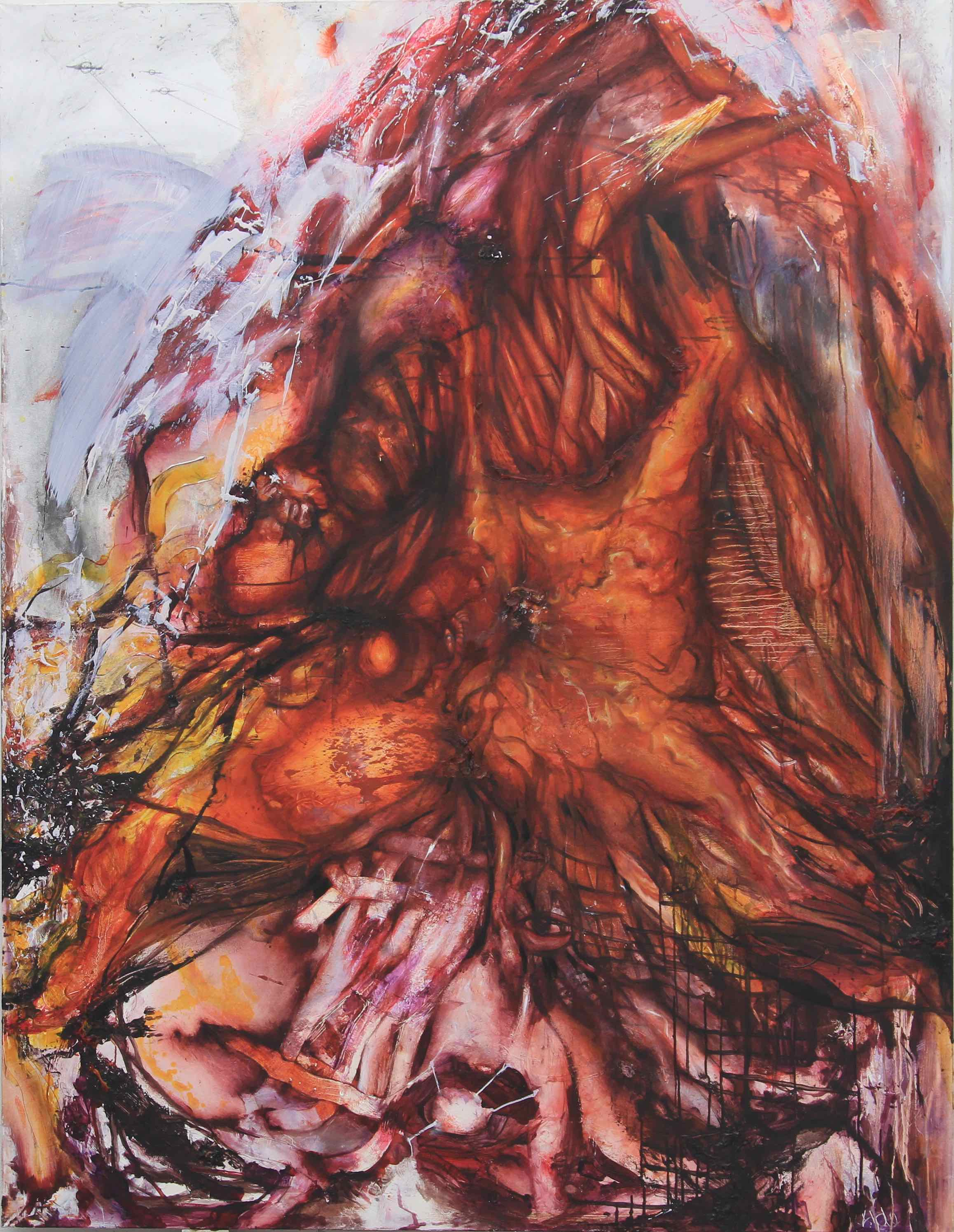 Big Red / 2012 / oil on canvas / 86.61 x 66.92 inches / 220 x 170 cm