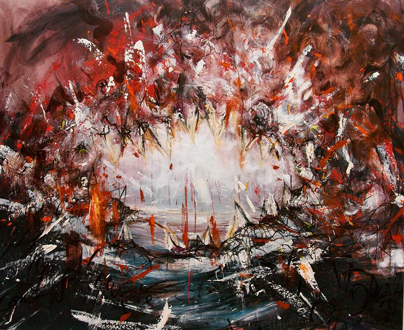 Shark / 2011 / oil on canvas / 47.24 x 57 inches / 120 x 145 cm