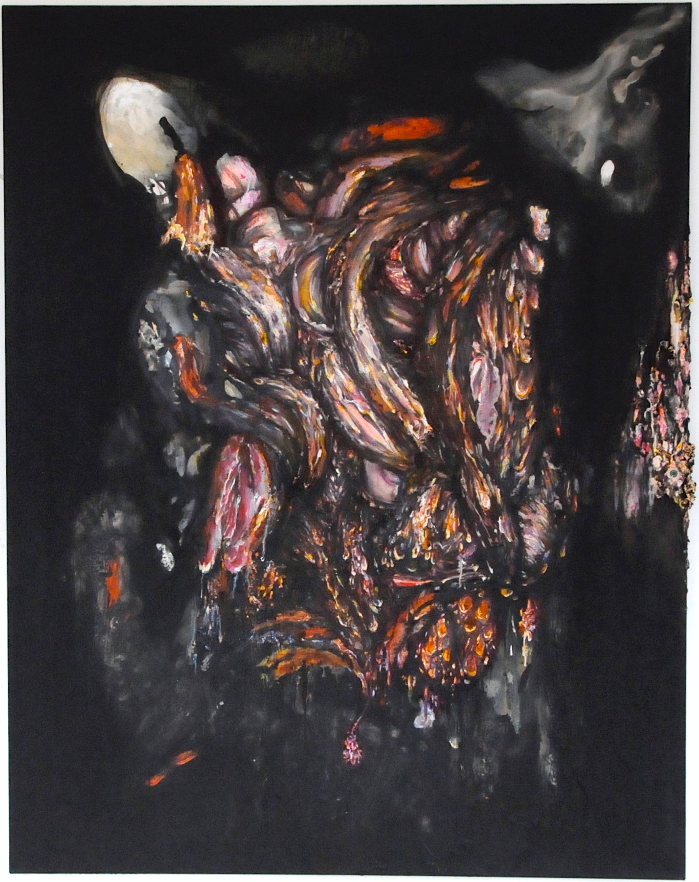 From the dark / 2013 / acrylic and oil on canvas / 72,83 x 56,69 inches / 185 x 144 cm