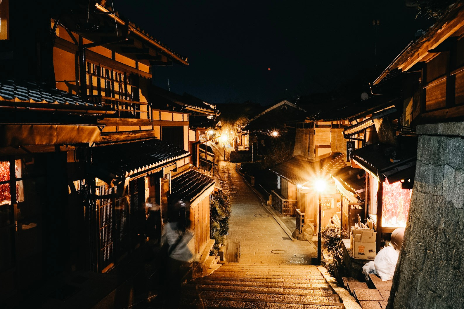 Higashiyama, the district we wished we'd booked in advance in Kyoto.