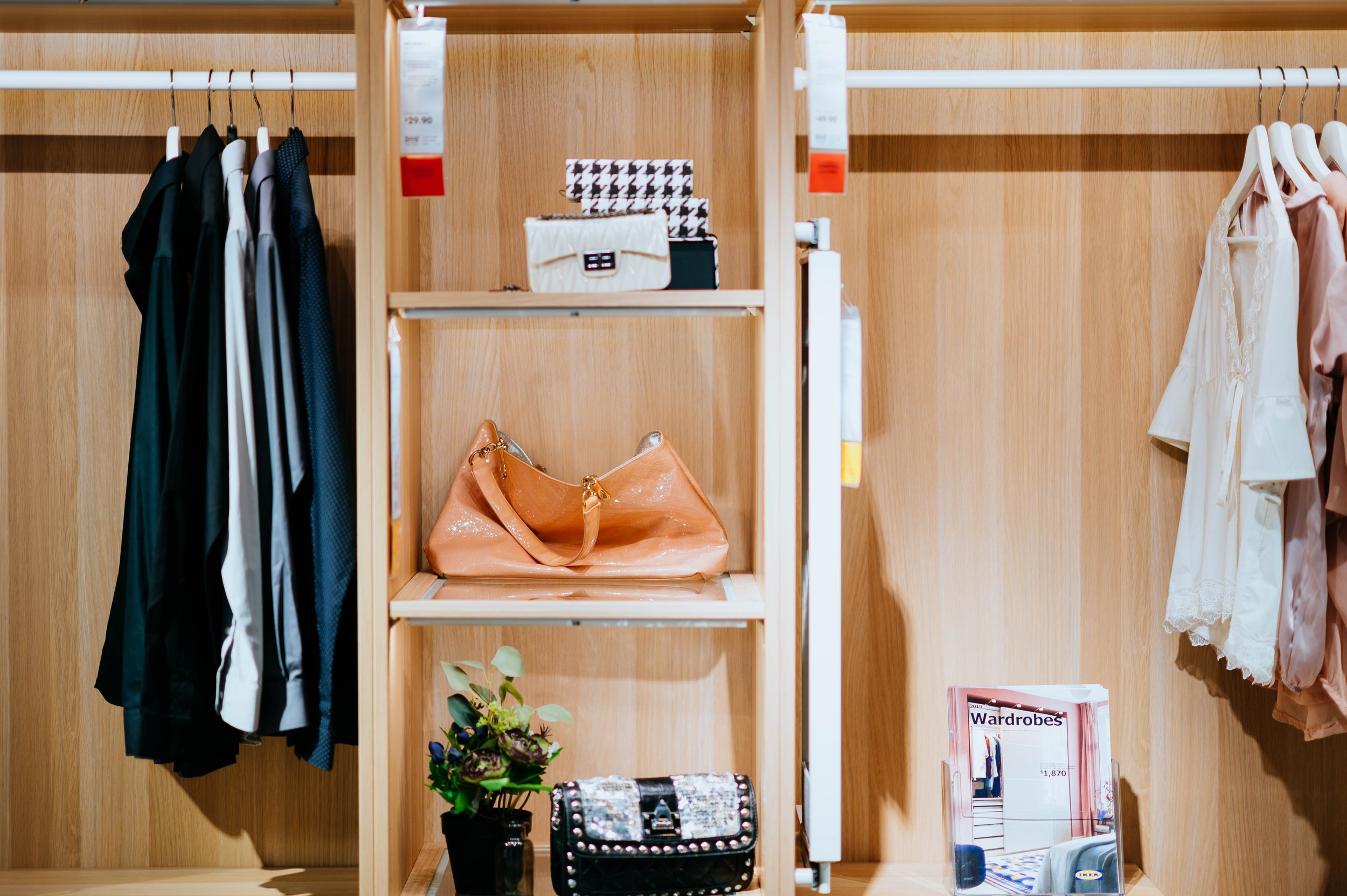 2) Organize by Style - Organize items by style this will help to move seasonal items to the back of the closet and reduce your choices. This will save a lot of time during the week when you are getting ready for work.Photo by chuttersnap on Unsplash
