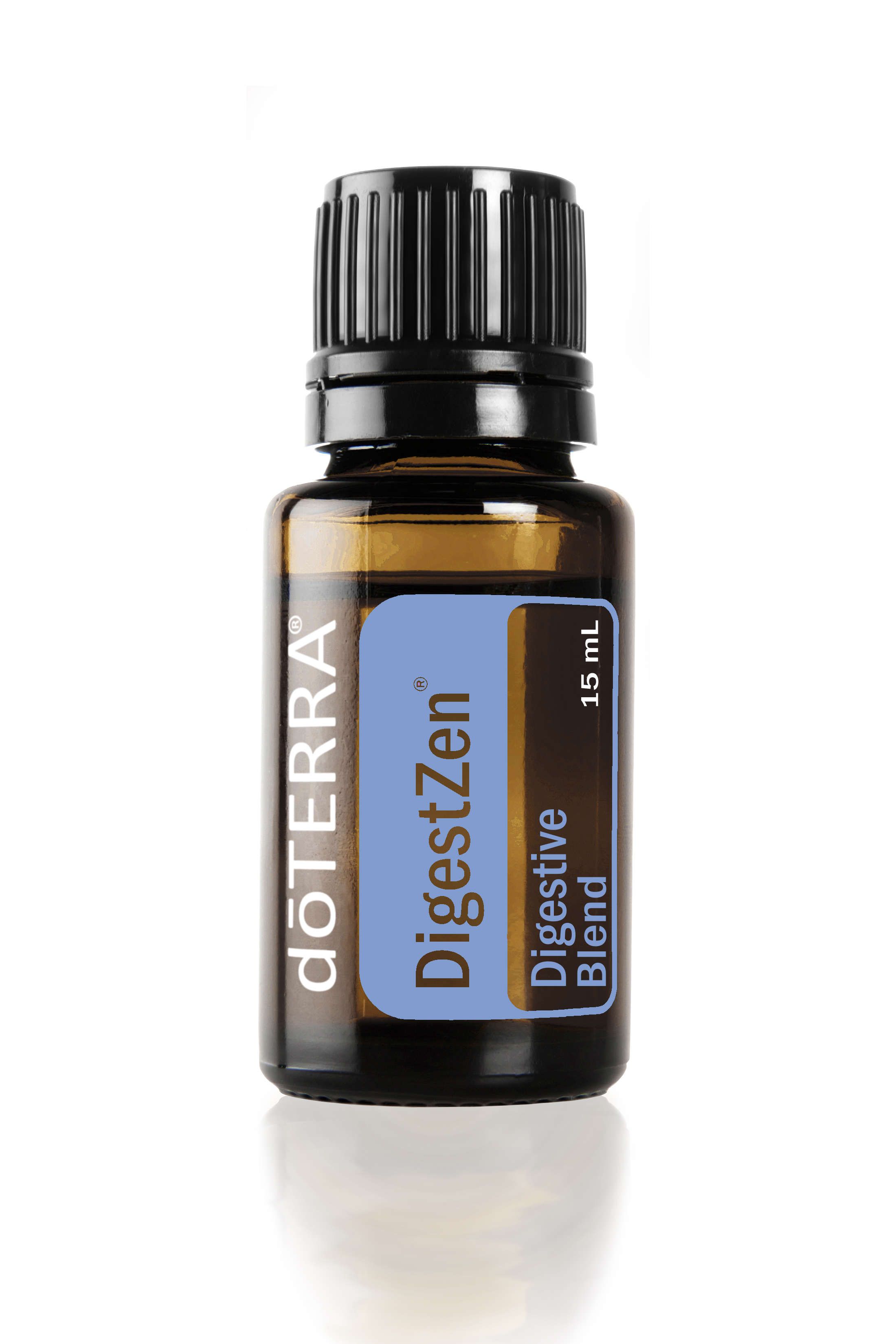 "Digestzen - Your Tummy Tamer - Digestive Essential Oil Blend is known as the ""tummy tamer"" blend due to its ability to aid in digestion, soothe stomach upset, and maintain overall digestive health Digestive Essential Oil Blend is great to have on hand when stomach upset occurs and is safe and effective. Digestive Essential Oil Blend is a healthy, natural, and gentle way to soothe an upset stomach or maintain a healthy digestive system.Three Primary benefits of Digestive Essential Oil Blend 1. Aids in the digestion of foods 2. Soothes occasional stomach upset 3. Maintains a healthy gastrointestinal tractUses for Digestive Essential Oil Blend 1. Add a few drops to water to take internally or rub on the stomach before flying or taking a road trip for a calming aroma. 2. Have Digestive Essential Oil Blend on hand when enjoying heavy holiday meals to promote digestion. 3. Take Digestive Essential Oil Blend with you when traveling or trying new foods to soothe occasional stomach upset.  4. Add to water or tea to maintain a healthy gastrointestinal tract. 5. When you are suffering with digestive system discomfort, add 2-3 drops to a teaspoon of fractionated coconut oil and massage in abdominal area. 6. During seasonal threats, it is great for promoting clear airways; mix 1-2 drops with a dab of fractionated coconut oil and apply over the sinuses (keep out of your eyes) as needed. 7. If you suffer from morning nausea while you are pregnant, add 2-3 drops to your diffuser and diffuse so you can breathe it in aromatically."