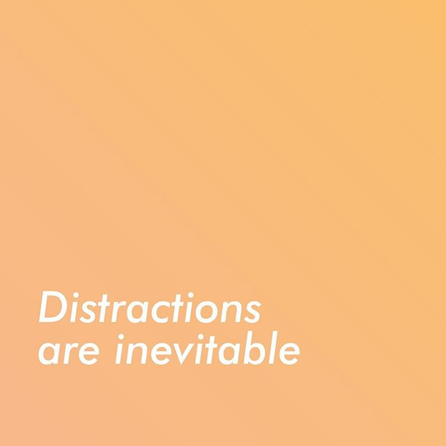 But refocusing is something you can control by consciously noticing that you are distracted and guiding your mind back to your work