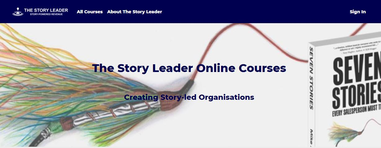 The Story Leader   main portal for coached online story development. (Click on course card below for details of each course)