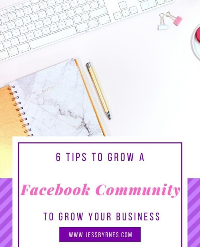 Facebook communities are a great way to have an interactive and engaging audience to interact with you and your business.   It also allows you to moderate your audience and a GREAT way to get insider/market research information.   Here are 6 tips to growing your facebook community  https://www.jessbyrnes.com/blog/2020/3/9/6-tips-to-growing-a-facebook-community-to-grow-your-business . . . . . .  #jessbyrnesau #onlinebusinessmanager #virtualassistant #digitalmarketing #socialmediamanager #socialmediaexpert #systems #womeninbusiness #bossbabe #ladyboss #helponline #outsource