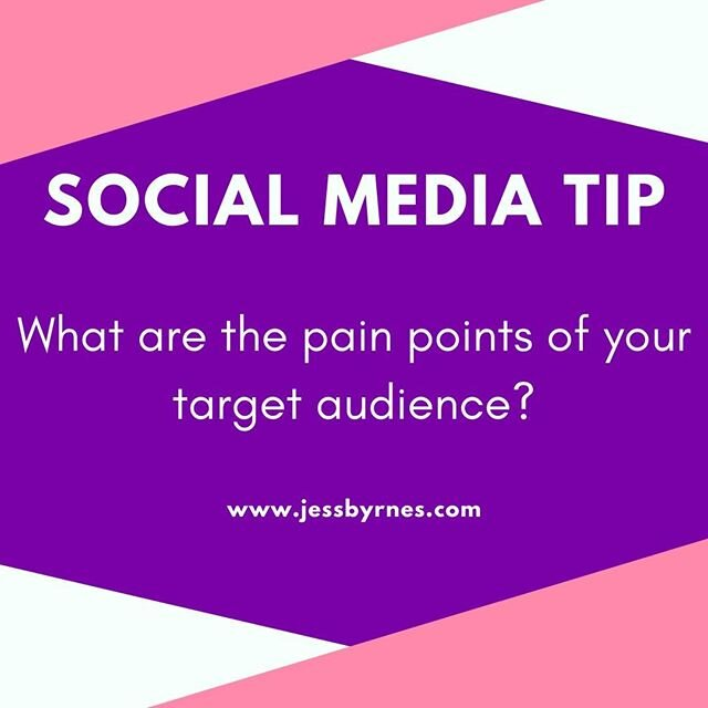 Understanding the pain points of your audience will help with your language.   It helps you understand what they need from you and how you can give value to your followers.   Share below what are some of the pain points of your audience ⬇️⬇️⬇️⬇️⬇️ . . . . . . .  #jessbyrnesau #onlinebusinessmanager #virtualassistant #digitalmarketing #socialmediamanager #socialmediaexpert #systems #womeninbusiness #bossbabe #ladyboss #helponline #outsource