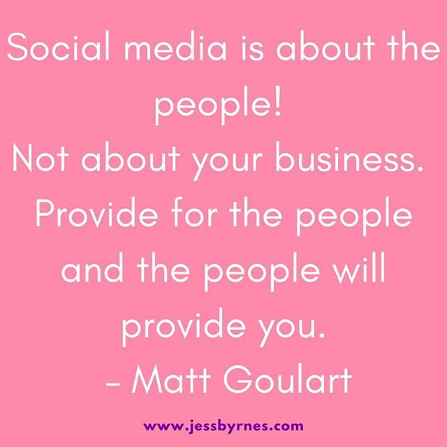 How do you compete on social media when there is so much hustle and bustle in the news feed.   Give VALUE!   Share information to help your audience, provide tips and help solve their problems.   Remember the posts you share are being read by people and are for people.   If you would like some help please contact me www.jessbyrnes.com/contact/  . . . . . . . .  #jessbyrnesau #onlinebusinessmanager #virtualassistant #digitalmarketing #socialmediamanager #socialmediaexpert #systems #womeninbusiness #bossbabe #ladyboss #helponline #outsource