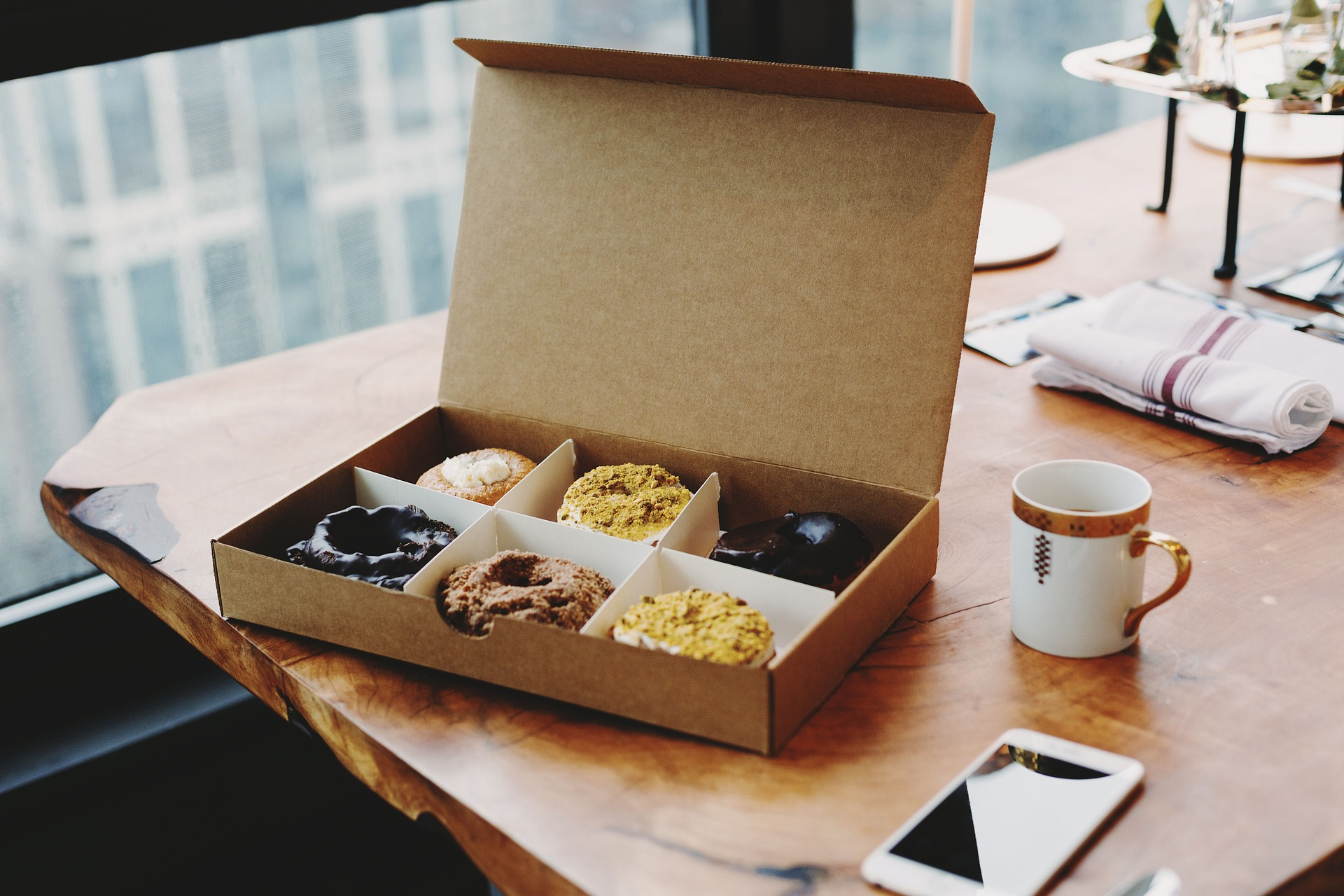 GRAB COFFEE AND DONUTS WITH NEIGHBORS -