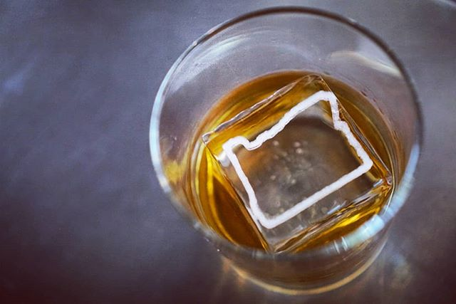 What's better than a big a** cube swimming in a generous pour of whiskey? A big a** cube with the state of Oregon on it, of course!
