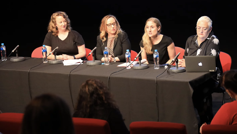 L-R: Margaret Margaret McHugh, Dr Sheree Gregory, Megan Riakos & Prof. Deb Verhoeven
