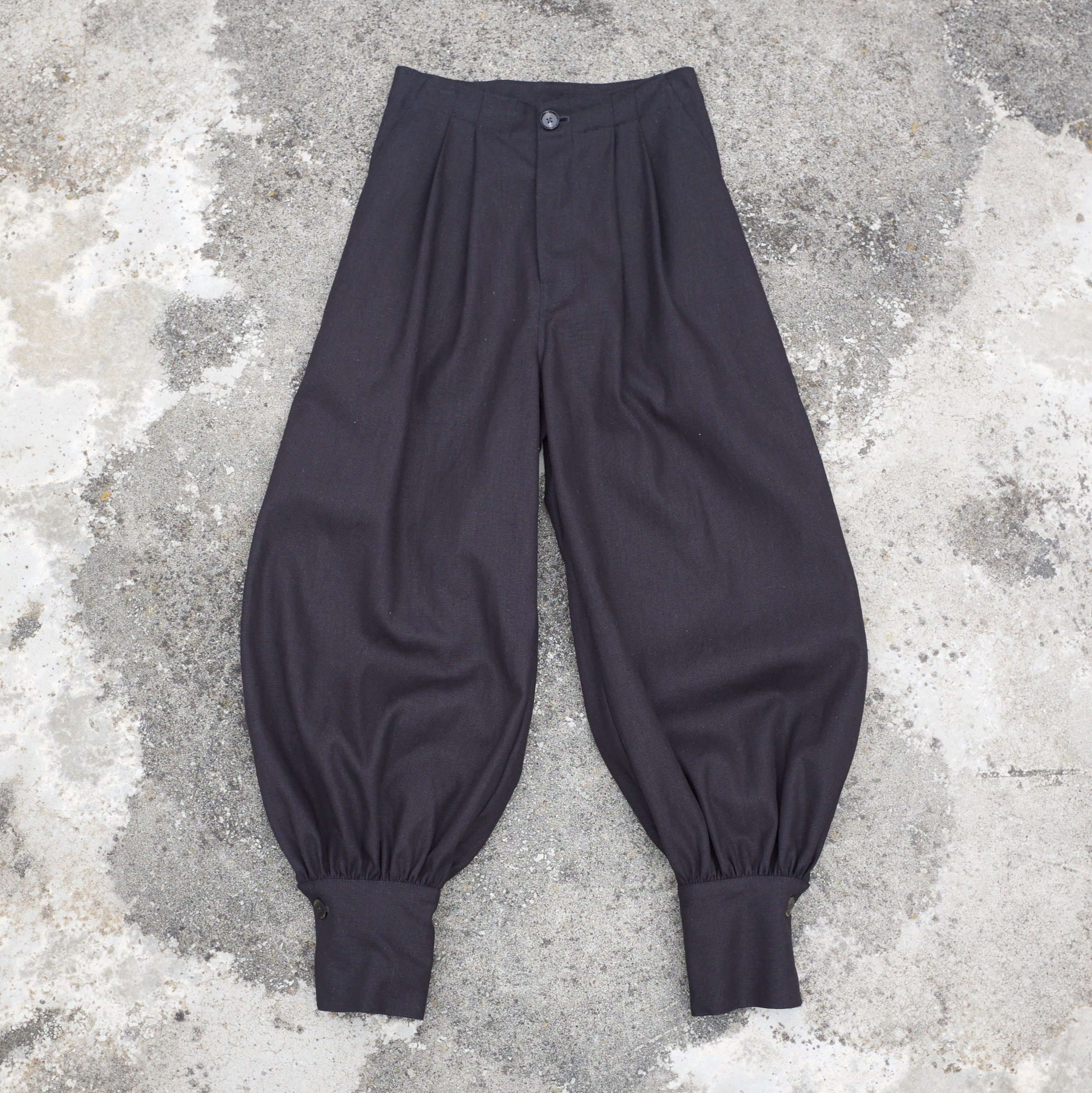 pleated gathered trouser