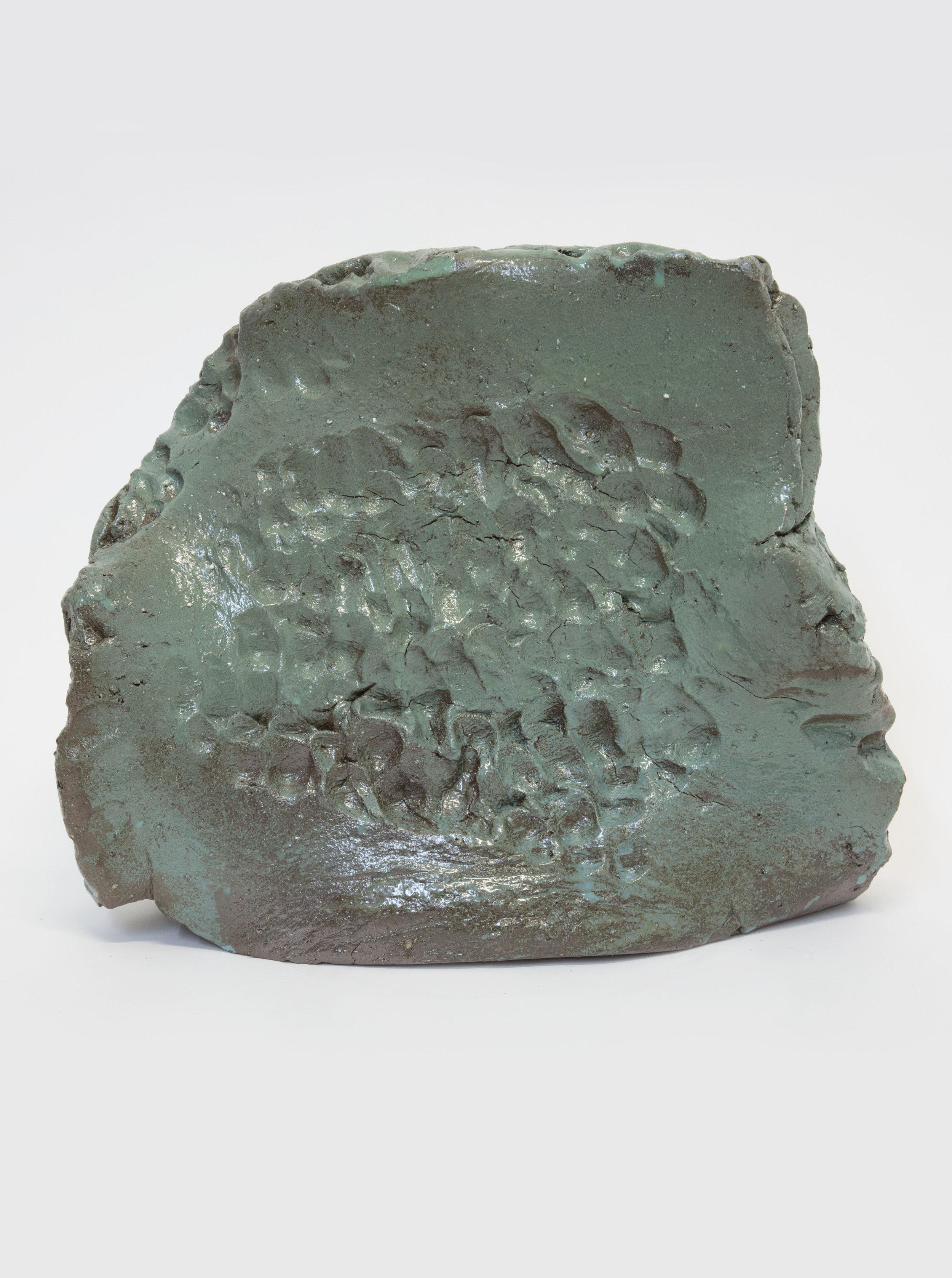 Sebastian Gladstone   Untitled Fired Stoneware , 2018 fired stoneware, glaze 12 x 17 x 5 in.