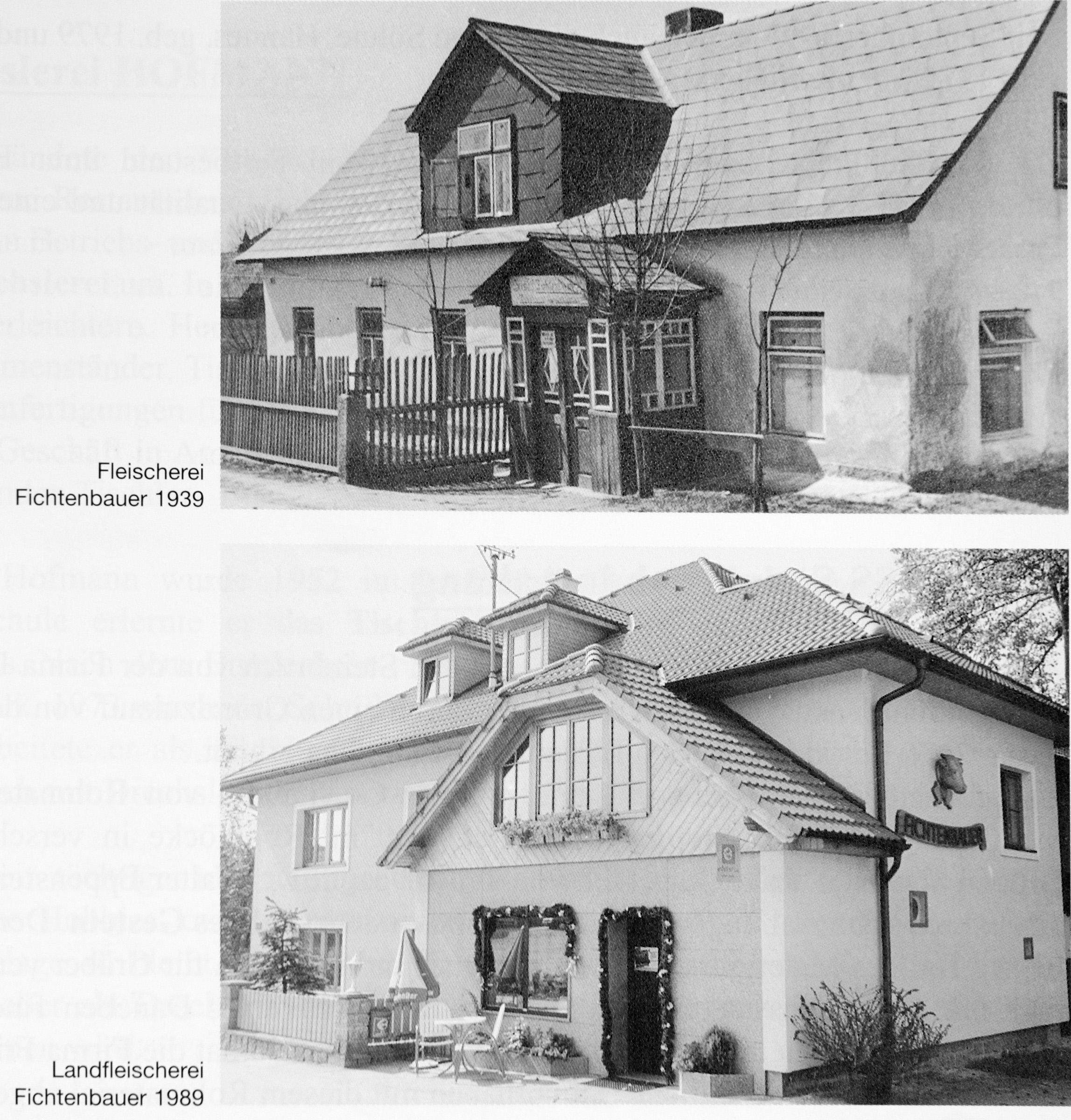 Fleischerei Fichtenbauer 1939, 1989 Schrems.jpg