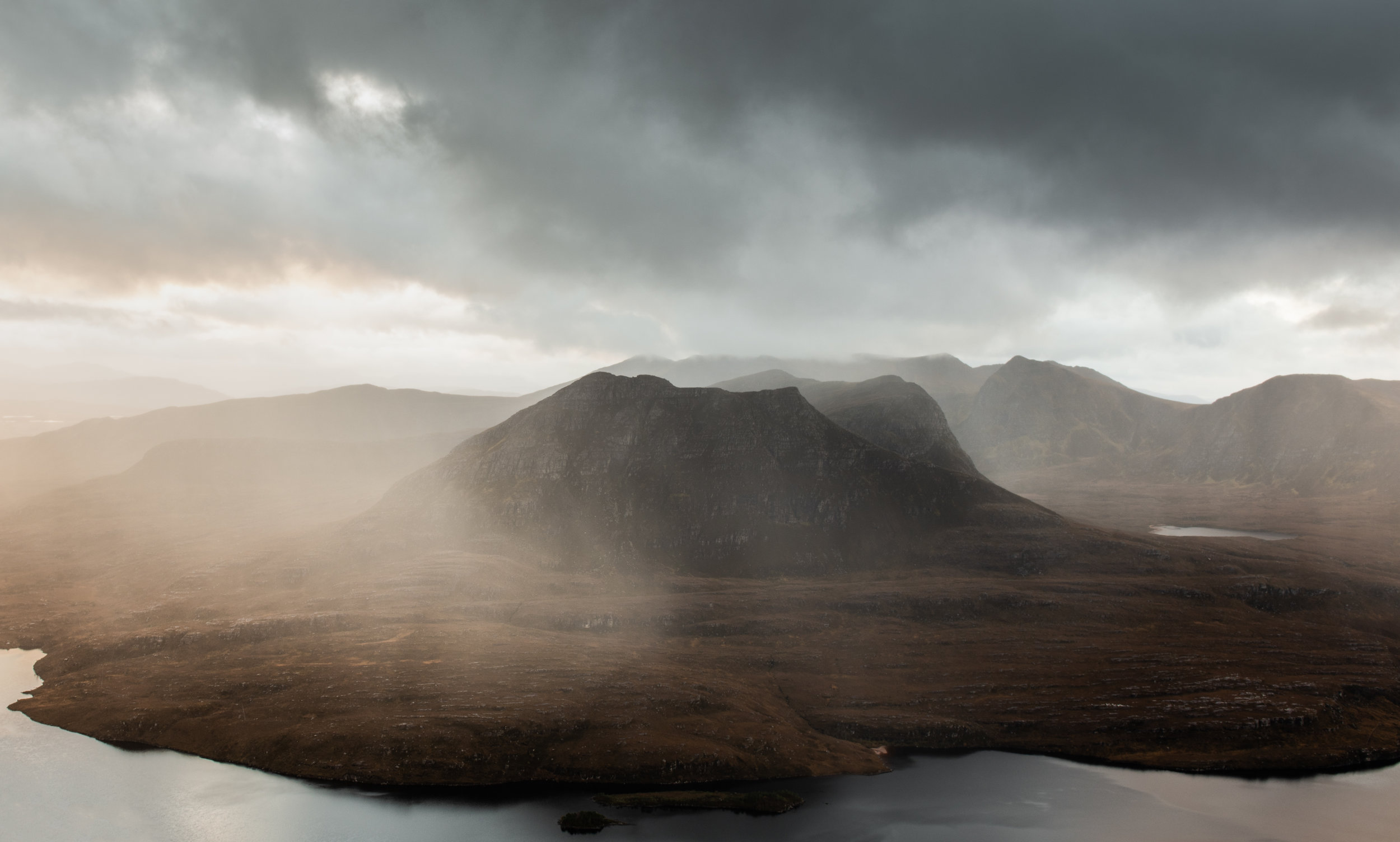 Rain showers passing Sgorr Tuath by Katherine Fotheringham